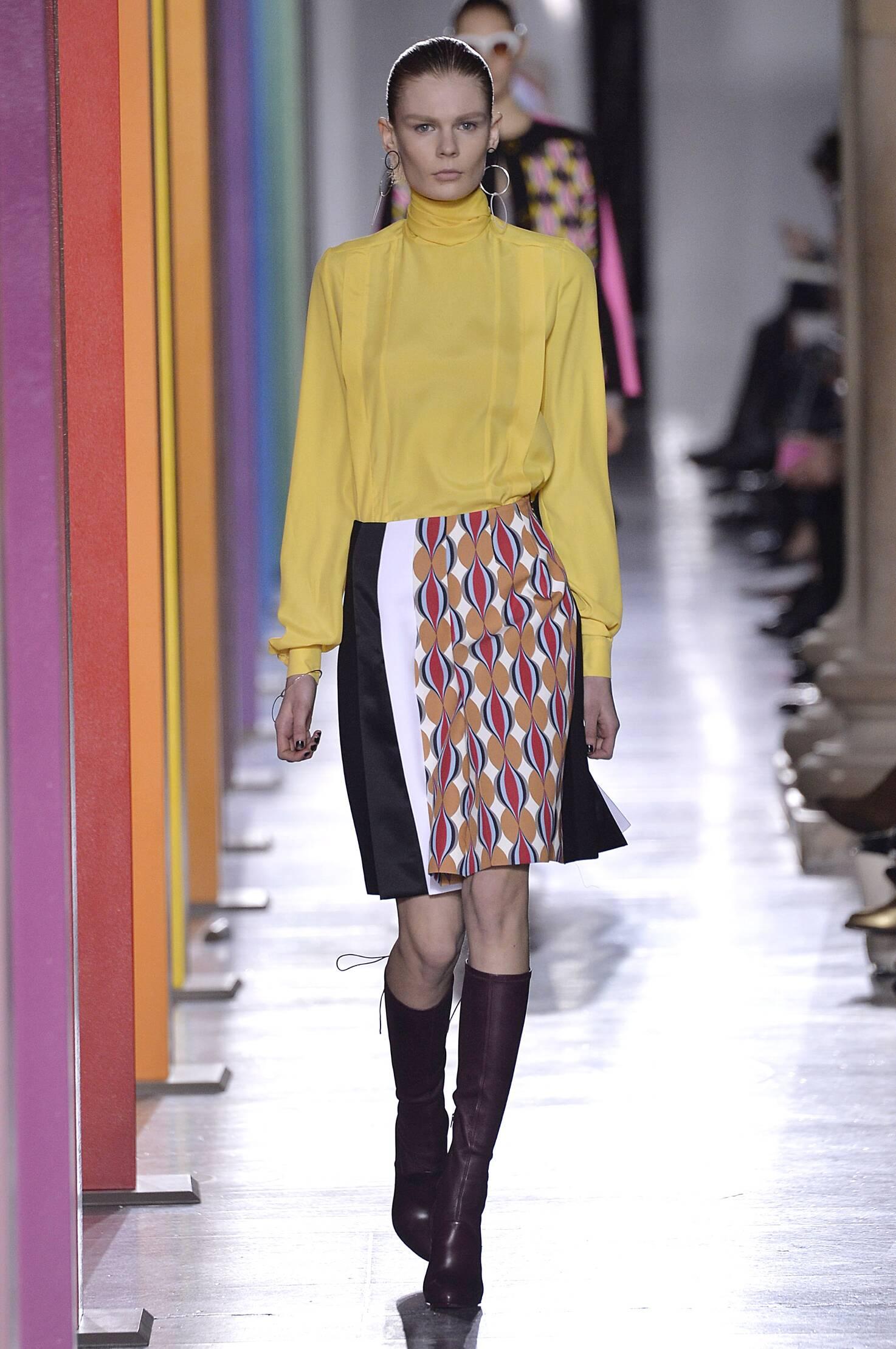 Catwalk Jonathan Saunders Collection Fashion Show Winter 2015