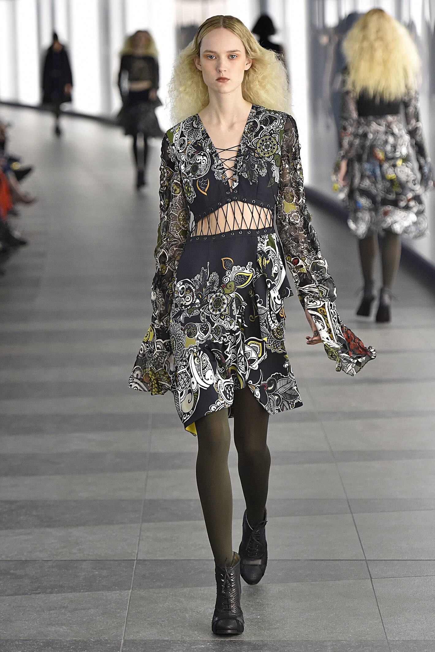 Catwalk Preen by Thornton Bregazzi Collection Fashion Show Winter 2015