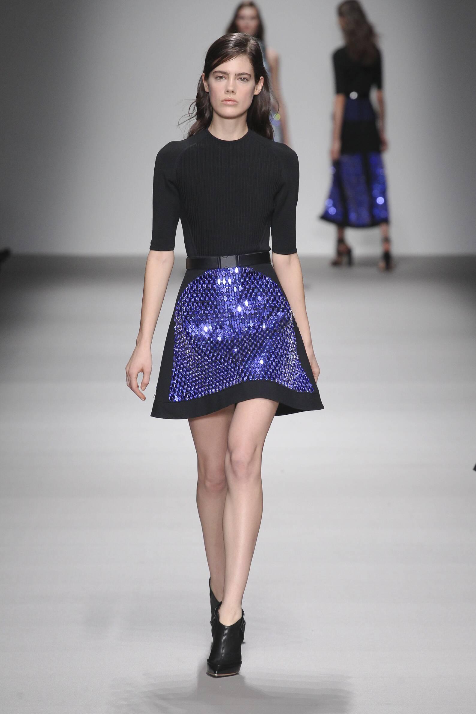 Fall David Koma Collection Fashion Woman Model