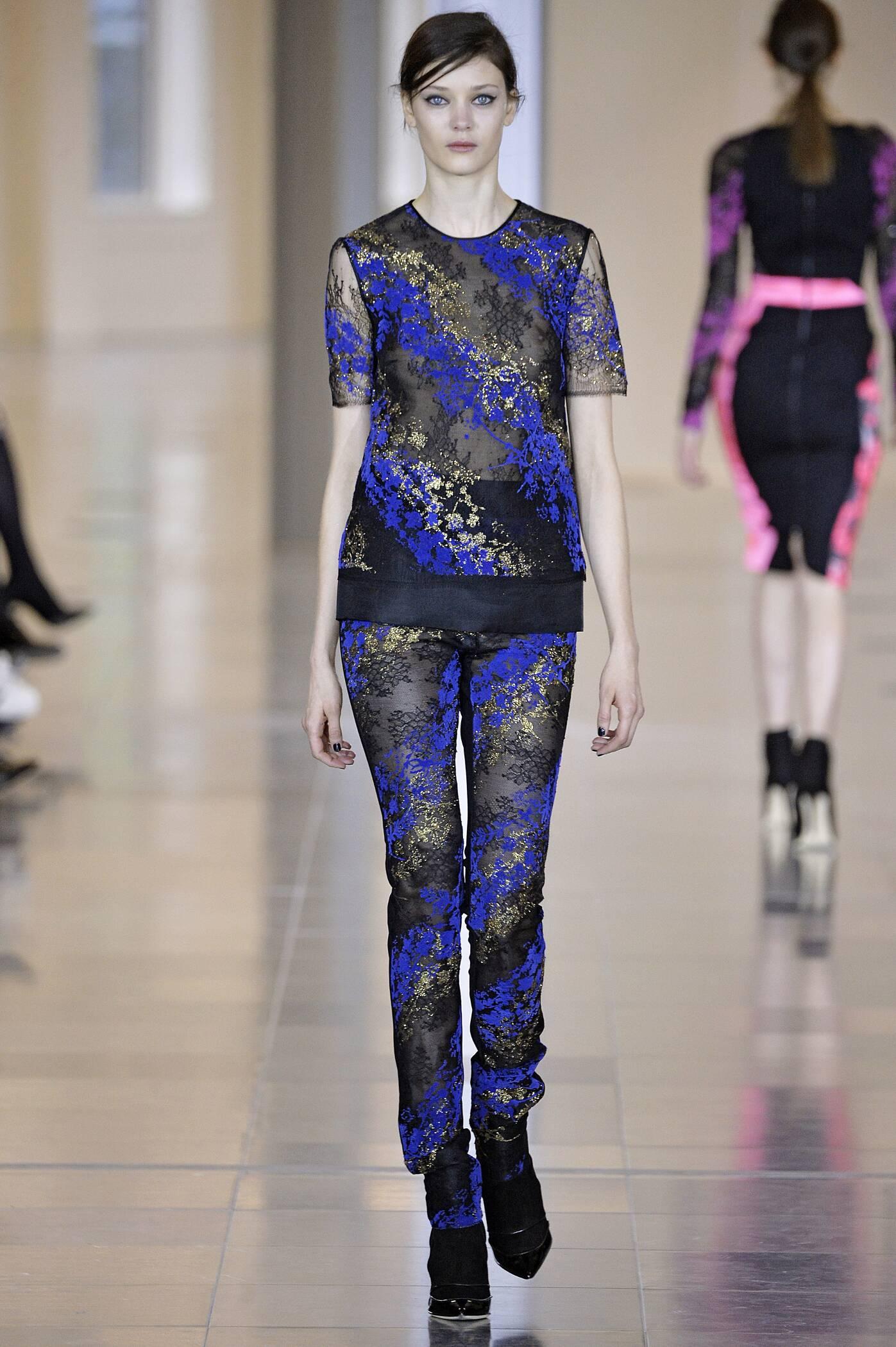 Fashion Man Model Antonio Berardi Collection Catwalk