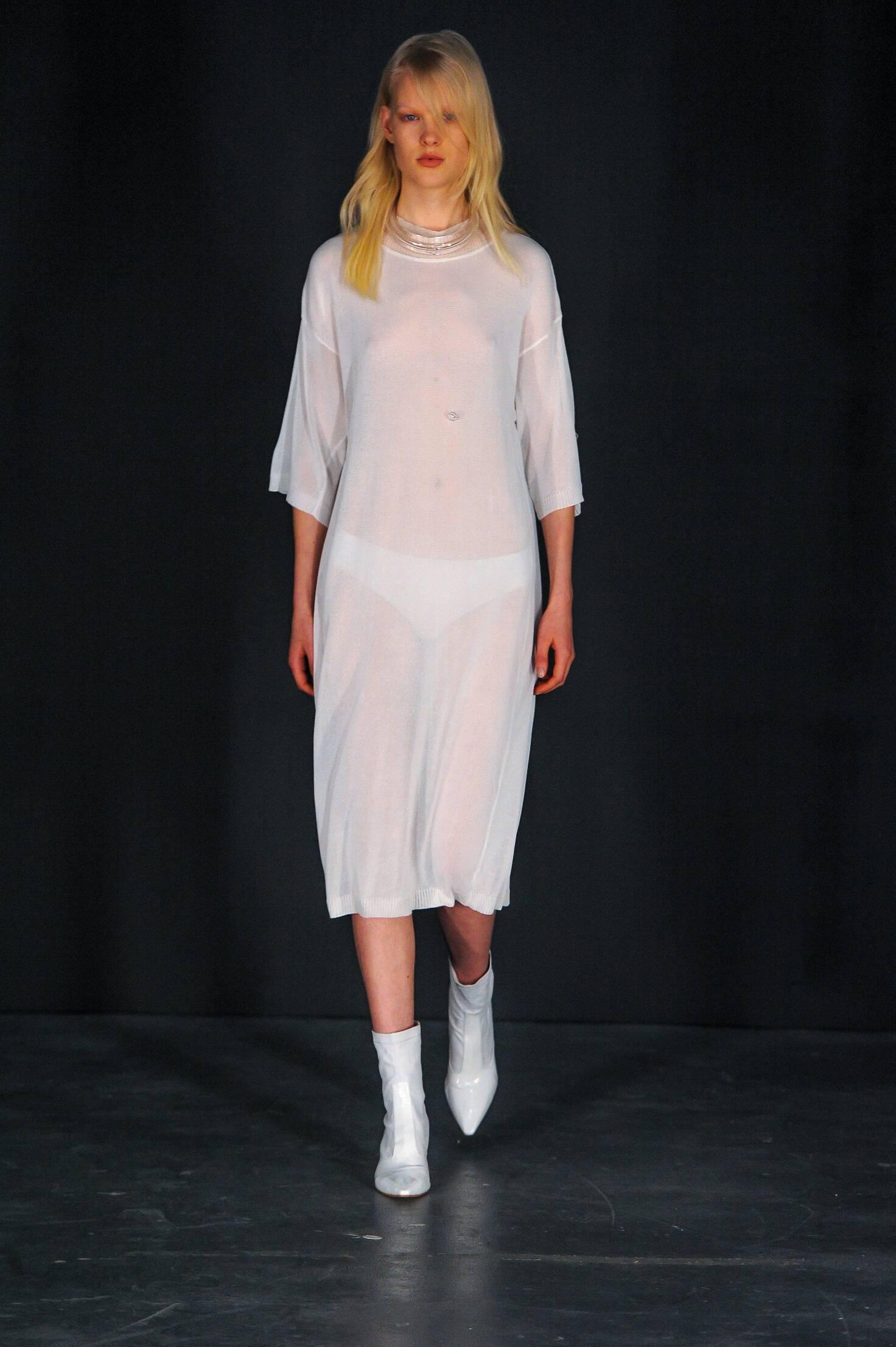Fashion Man Model Thomas Tait Collection Catwalk