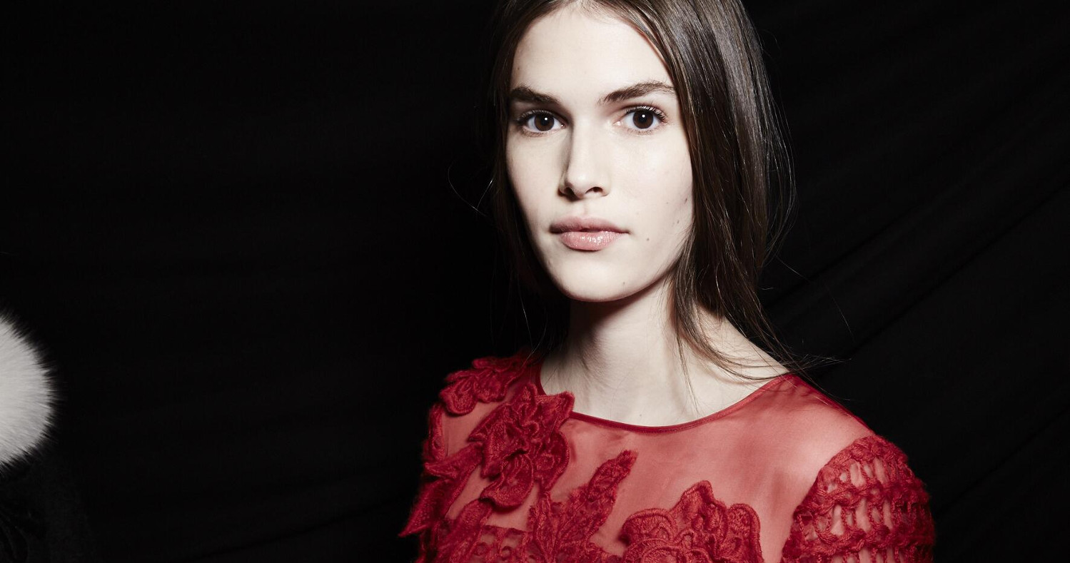 Fashion Model Alberta Ferretti Backstage 2015