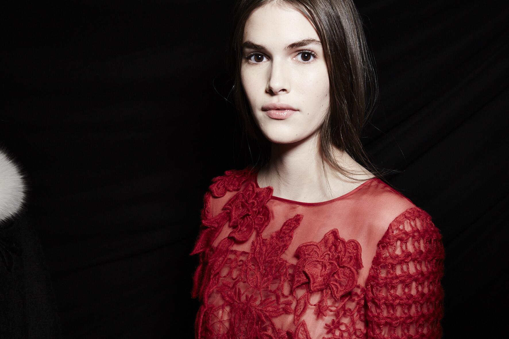 Fashion Model Alberta Ferretti Backstage