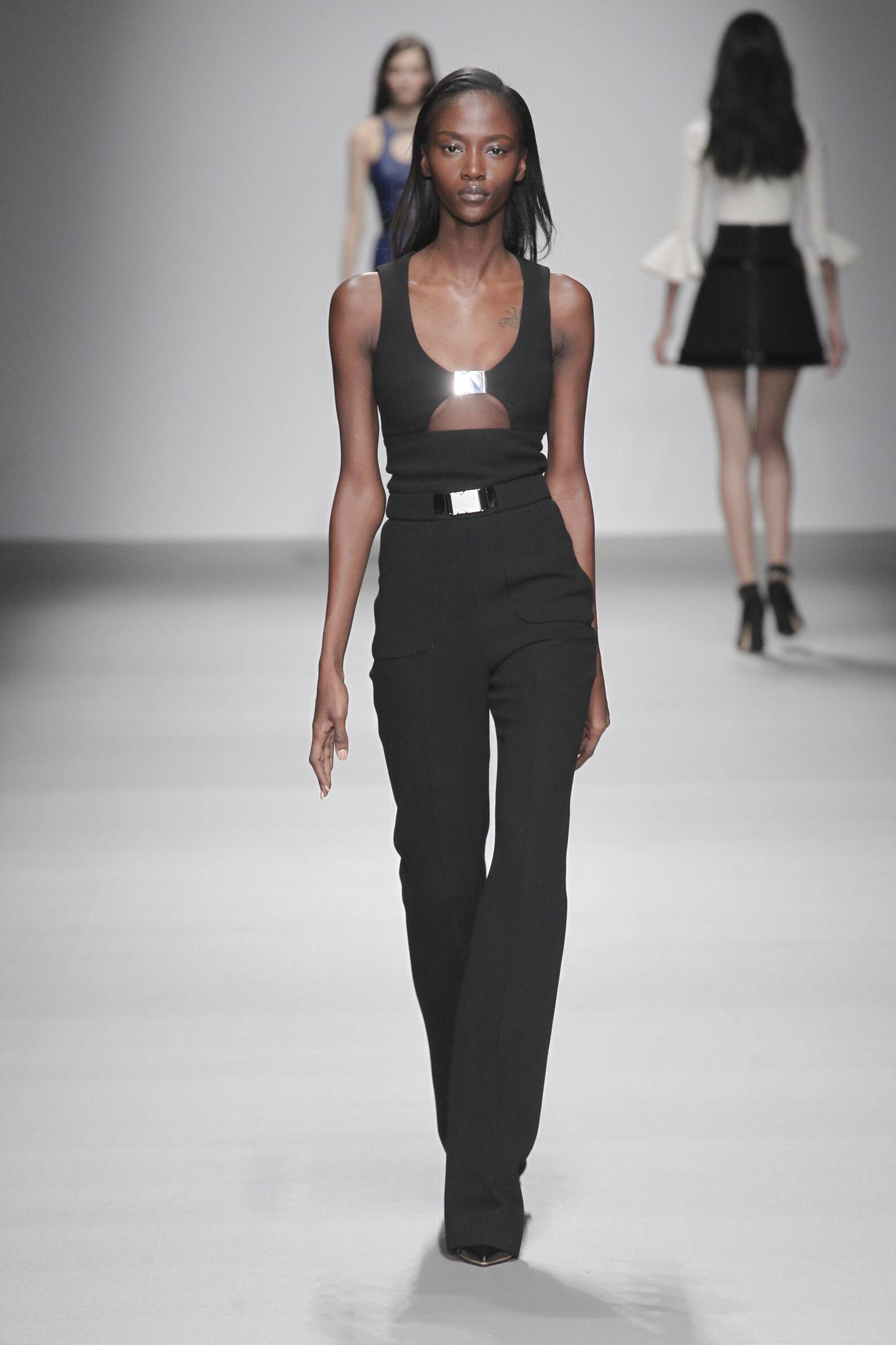 Fashion Model David Koma Collection Catwalk