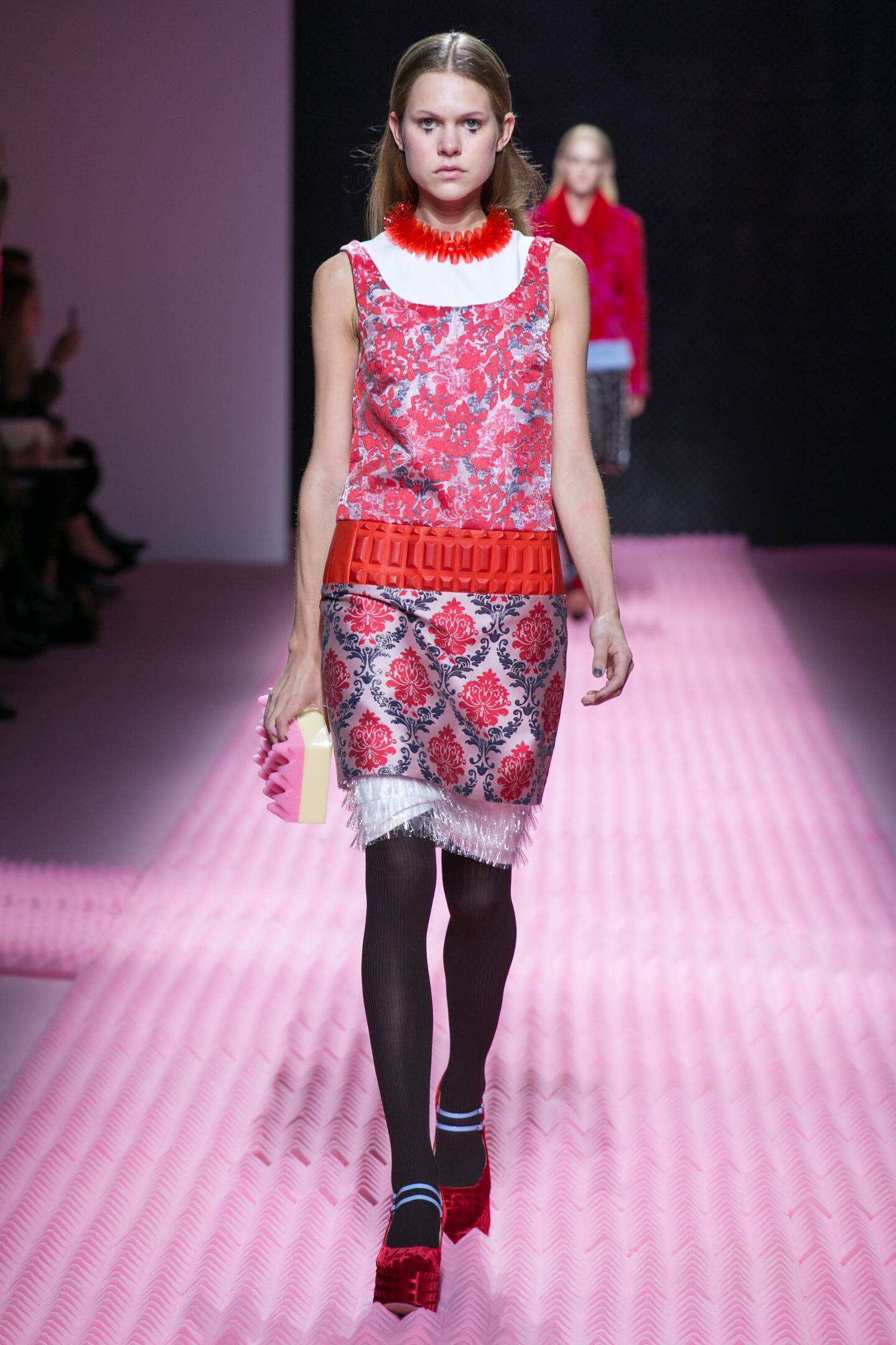 Fashion Model Mary Katrantzou Collection Catwalk