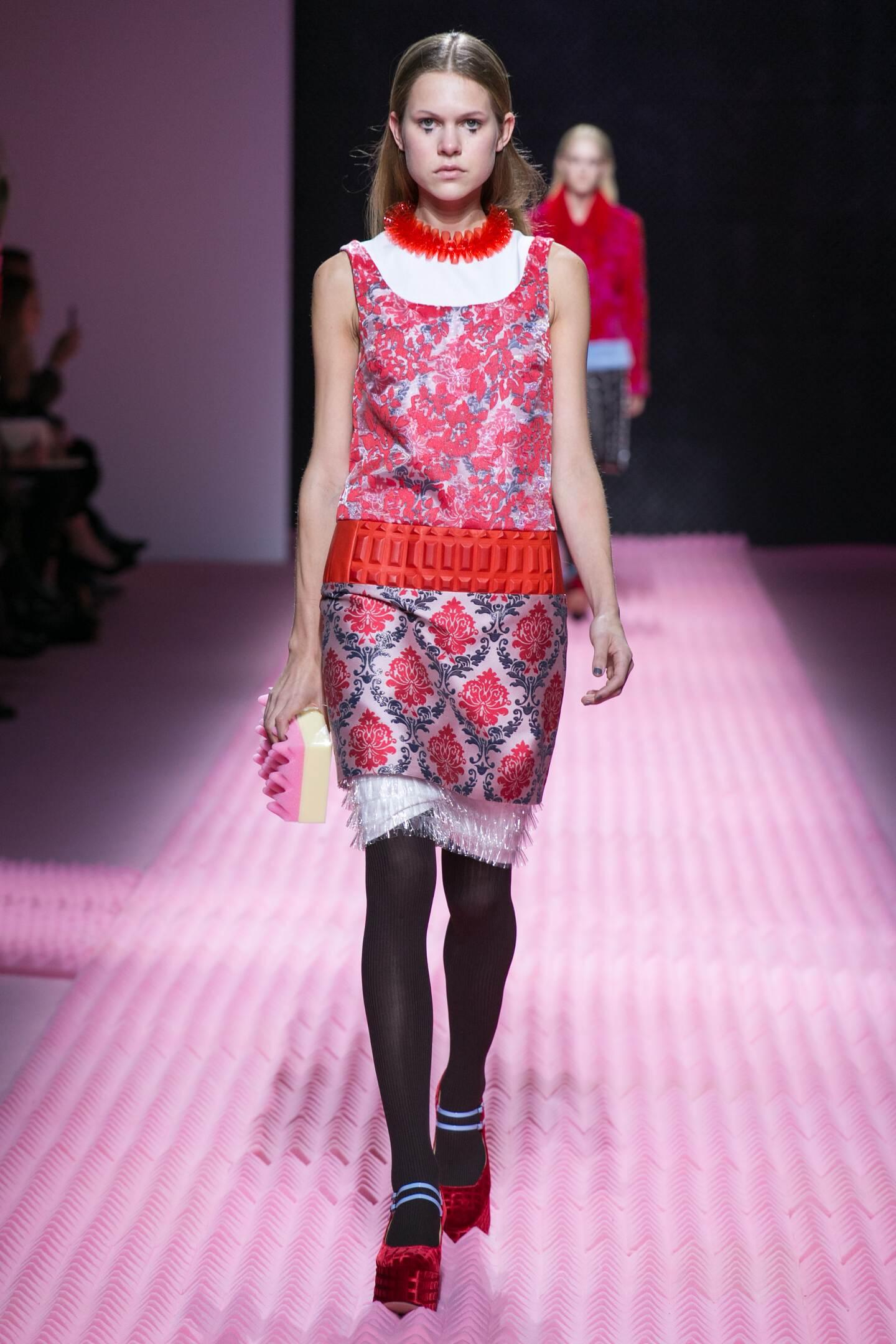 Fashion Model Mary Katrantzou Collection Catwalk