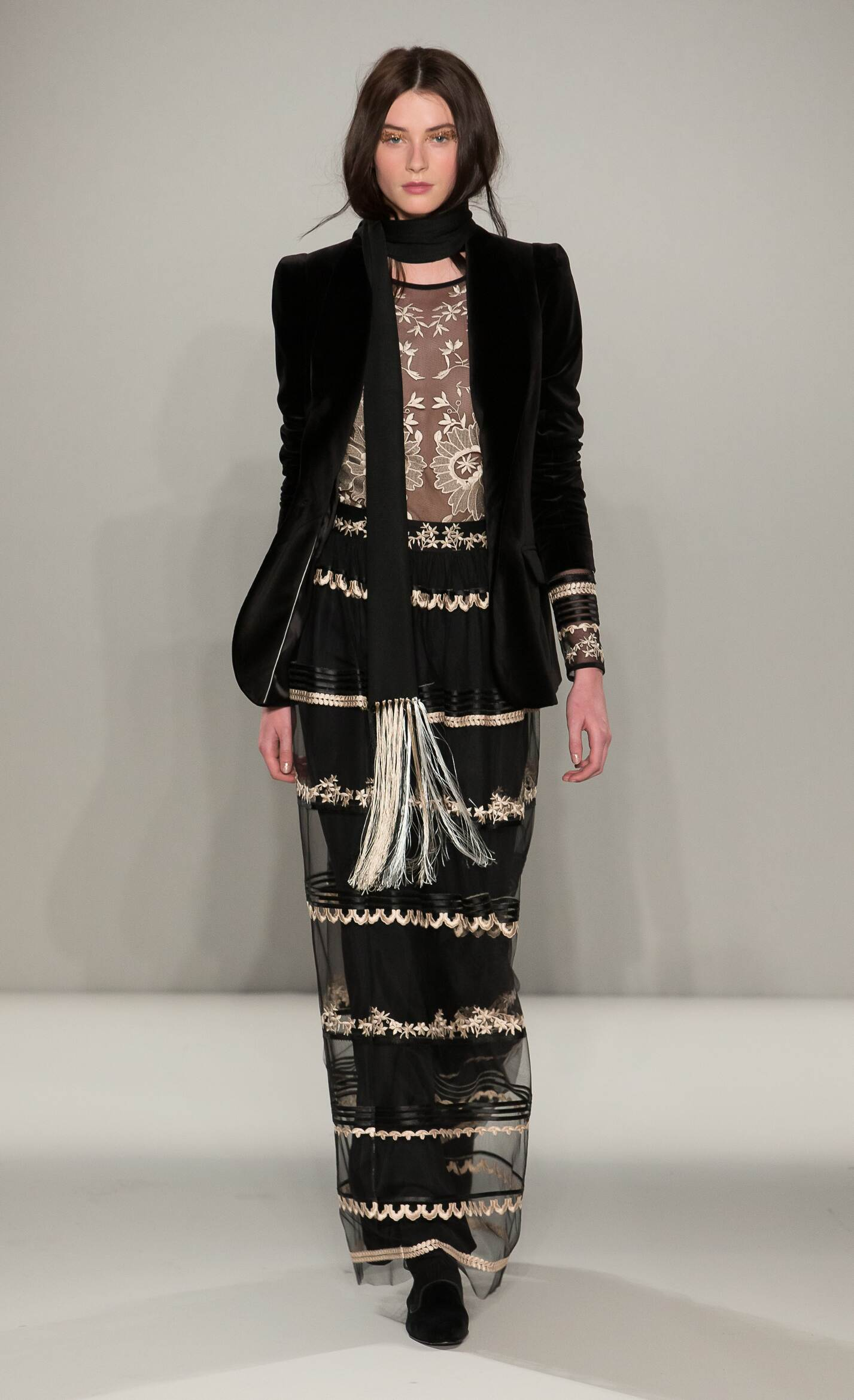 Fashion Model Temperley London Collection Catwalk