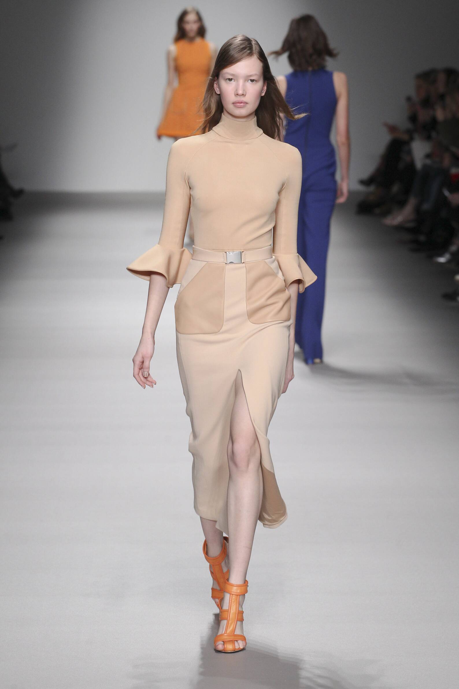 Fashion Woman Model David Koma Collection Catwalk
