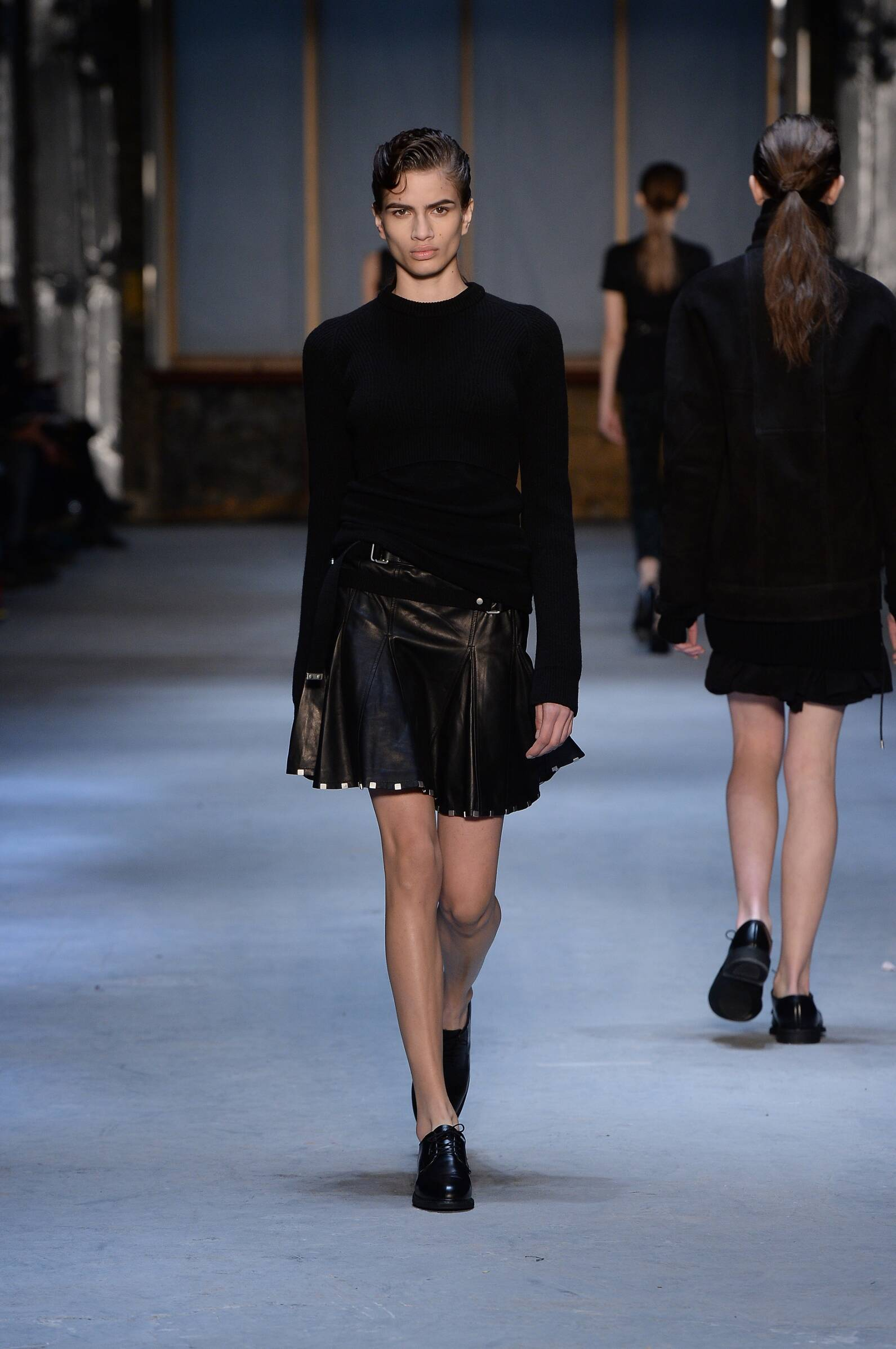 Fashion Woman Model Diesel Black Gold Collection Catwalk 2015