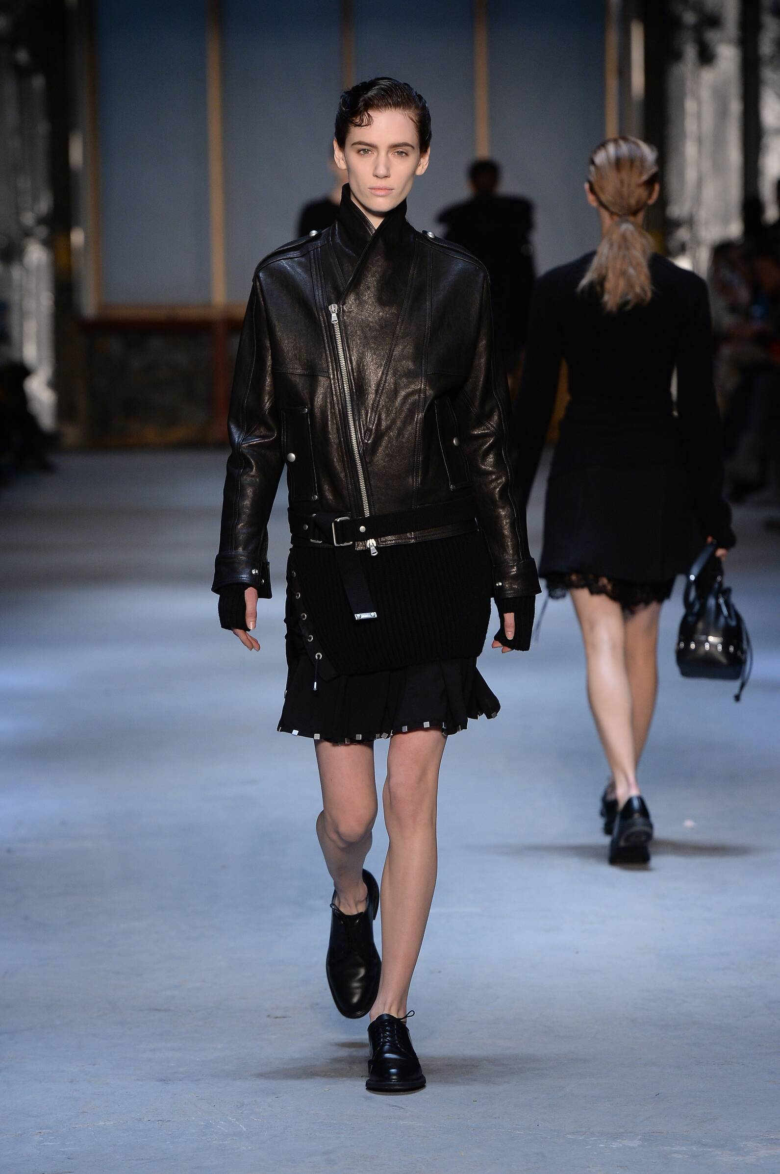 Fashion Woman Model Diesel Black Gold Collection Catwalk