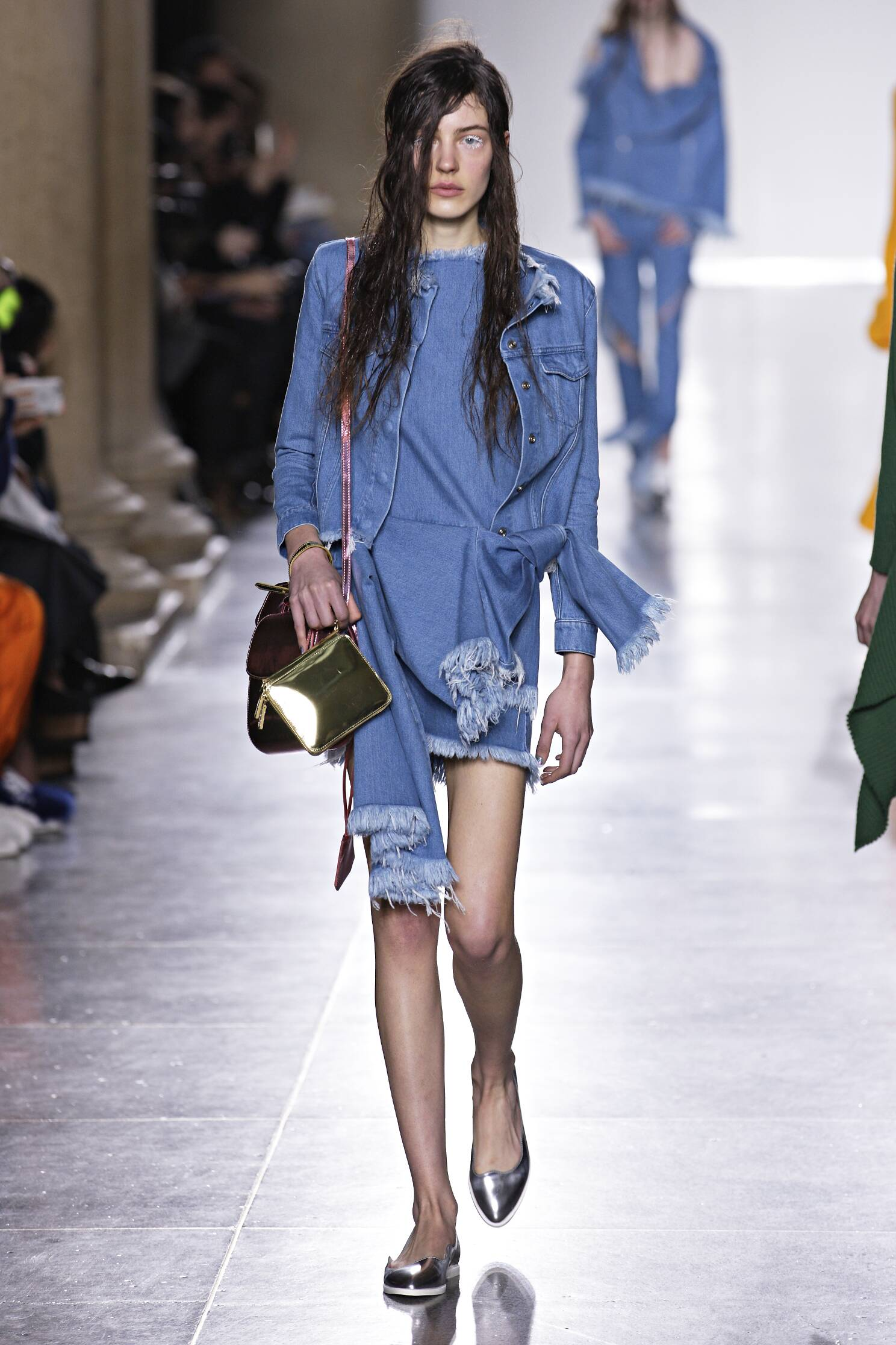 Fashion Woman Model Marques Almeida Collection Catwalk
