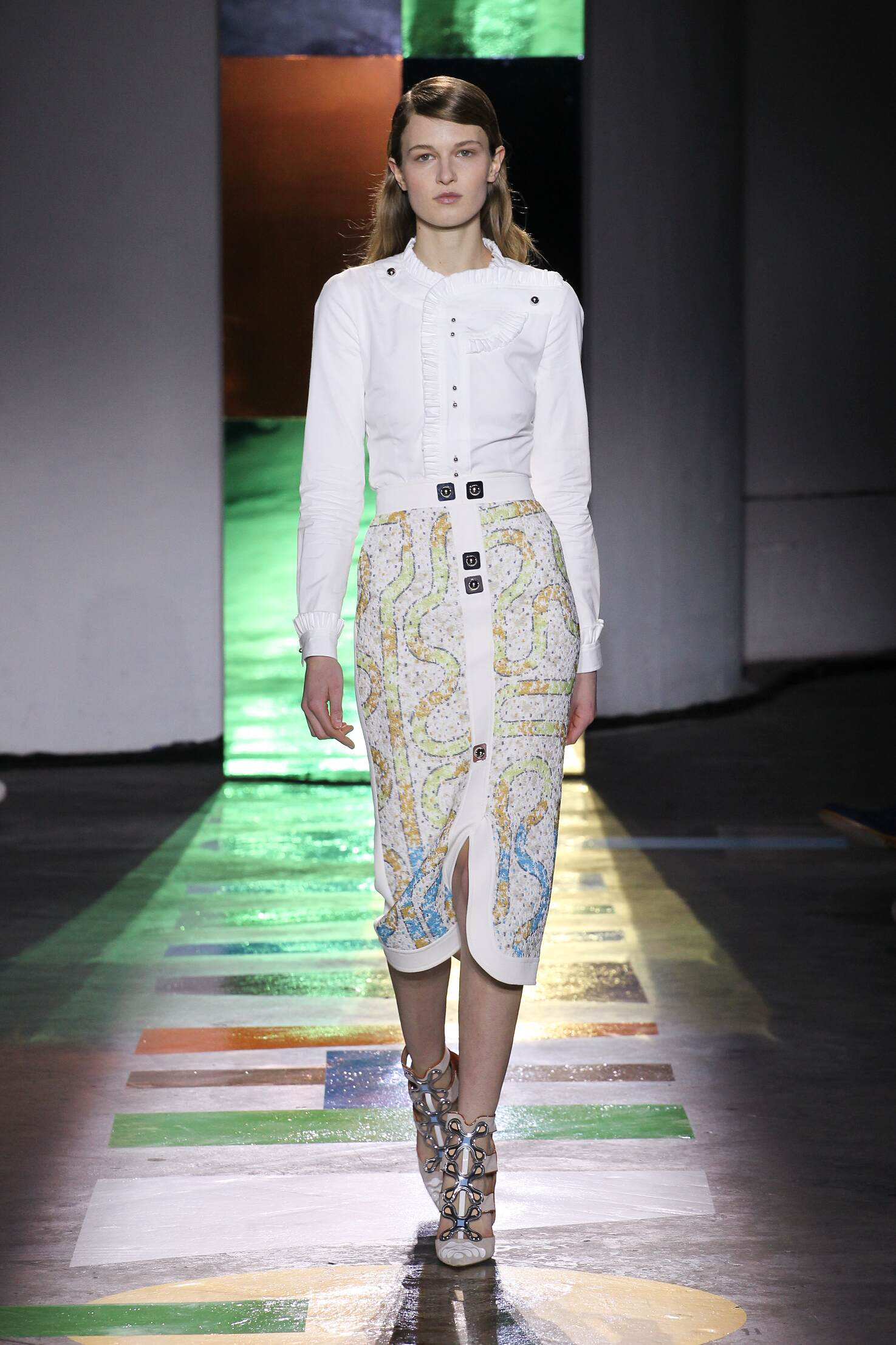 Fashion Woman Model Peter Pilotto Collection Catwalk