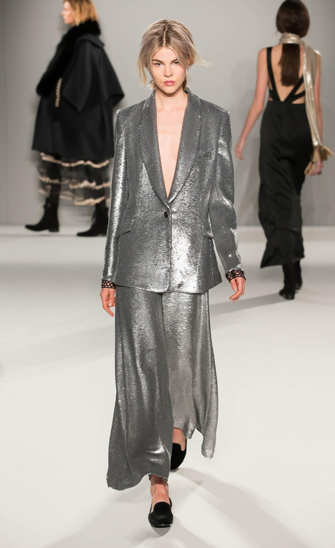 Fashion Woman Model Temperley London Collection Catwalk