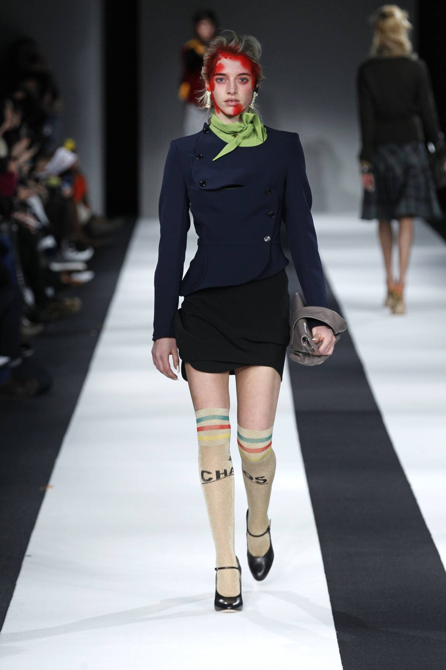 Fashion Woman Model Vivienne Westwood Red Label Collection Catwalk 2015