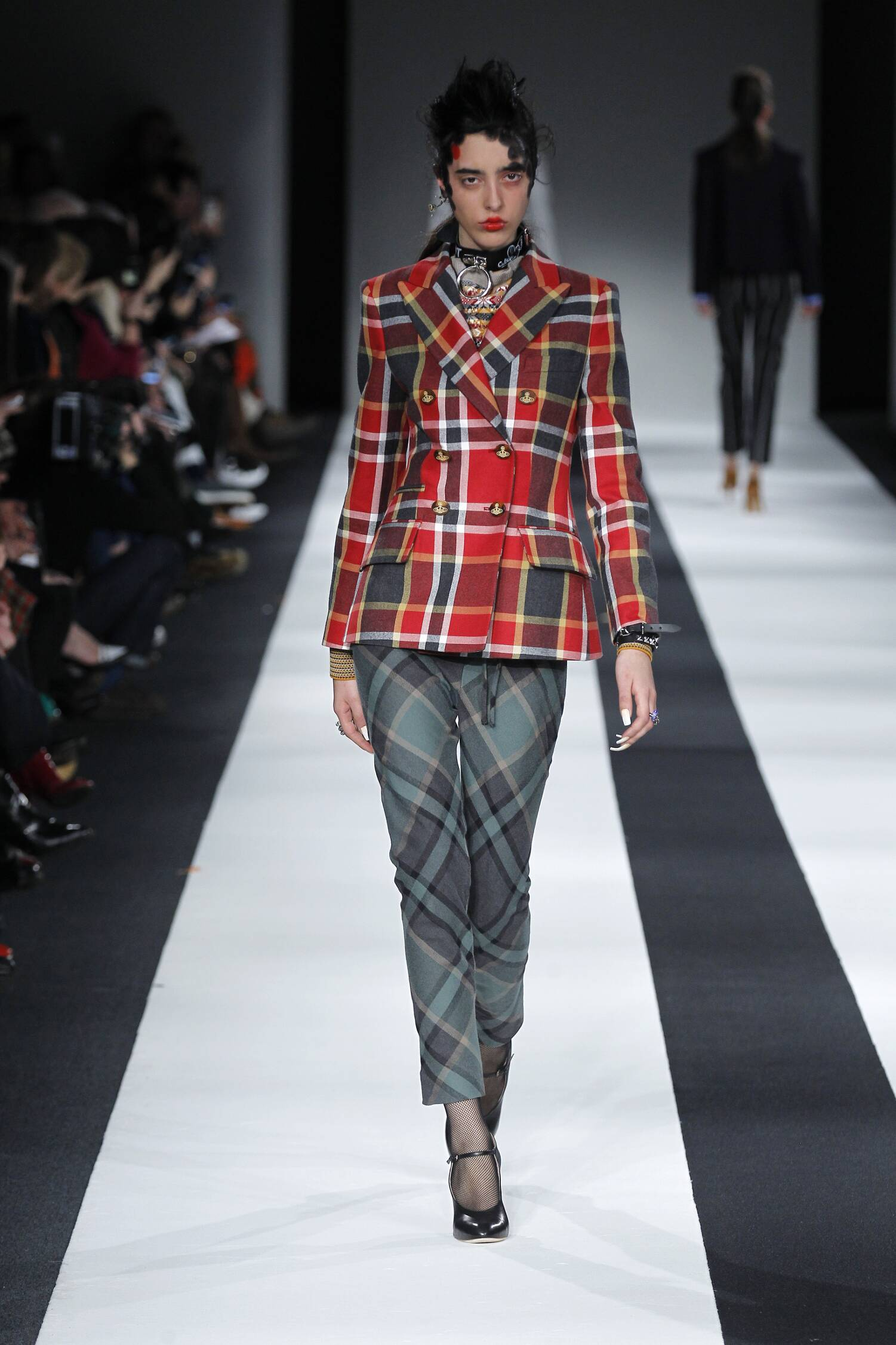 Fashion Woman Model Vivienne Westwood Red Label Collection Catwalk