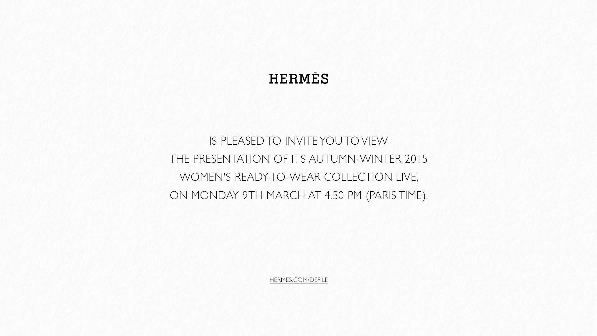 Hermès Fall Winter 2015-16 Women's Fashion Show Live from Paris