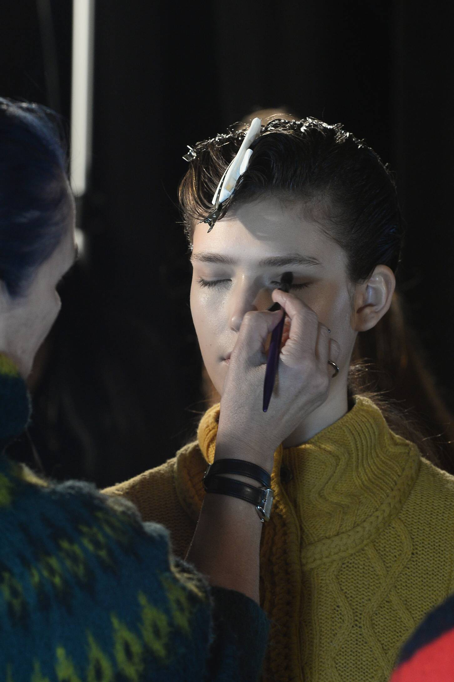 Make Up Diesel Black Gold Backstage Fashion Model