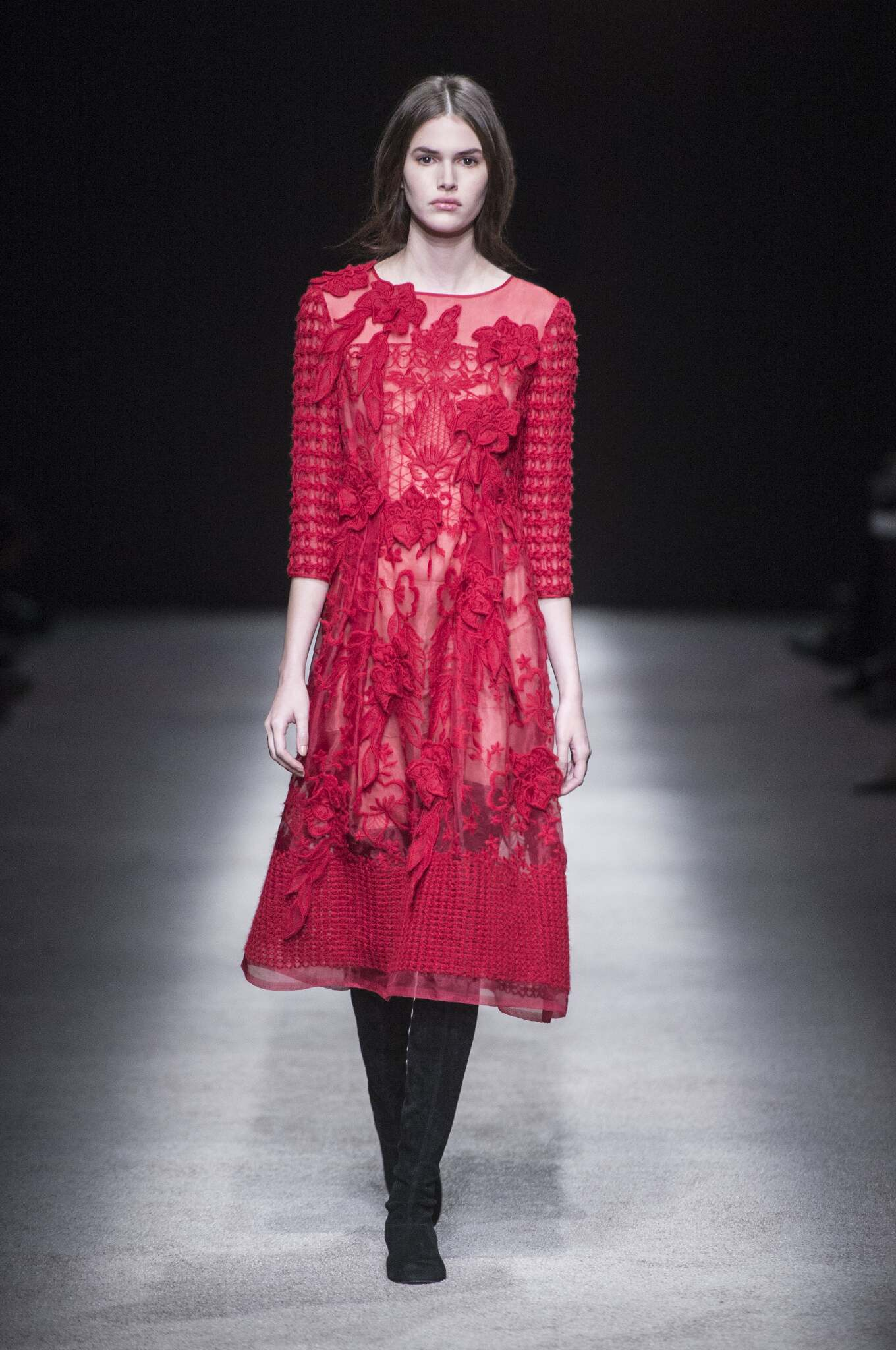 Runway Alberta Ferretti Fall Winter 2015 16 Women's Collection Milan Fashion Week
