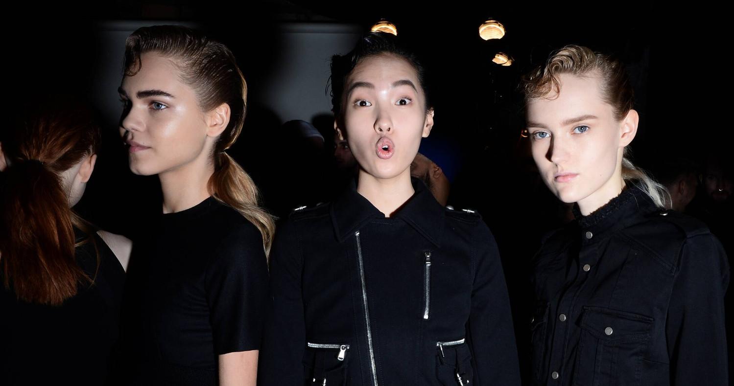 Women Models 2015 Backstage Diesel Black Gold New York 2015