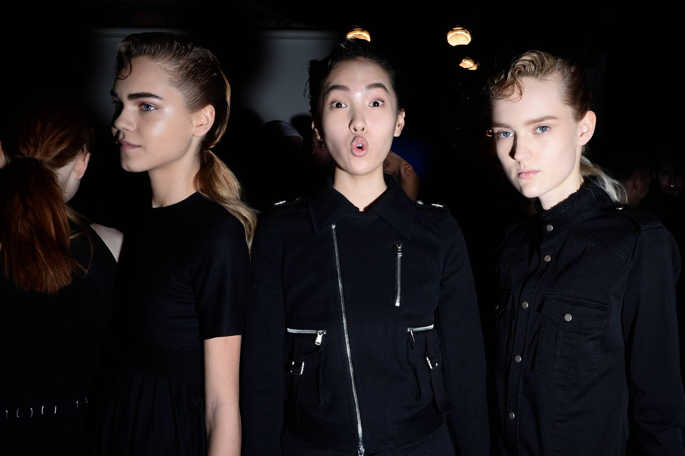 Women Models 2015 Backstage Diesel Black Gold New York
