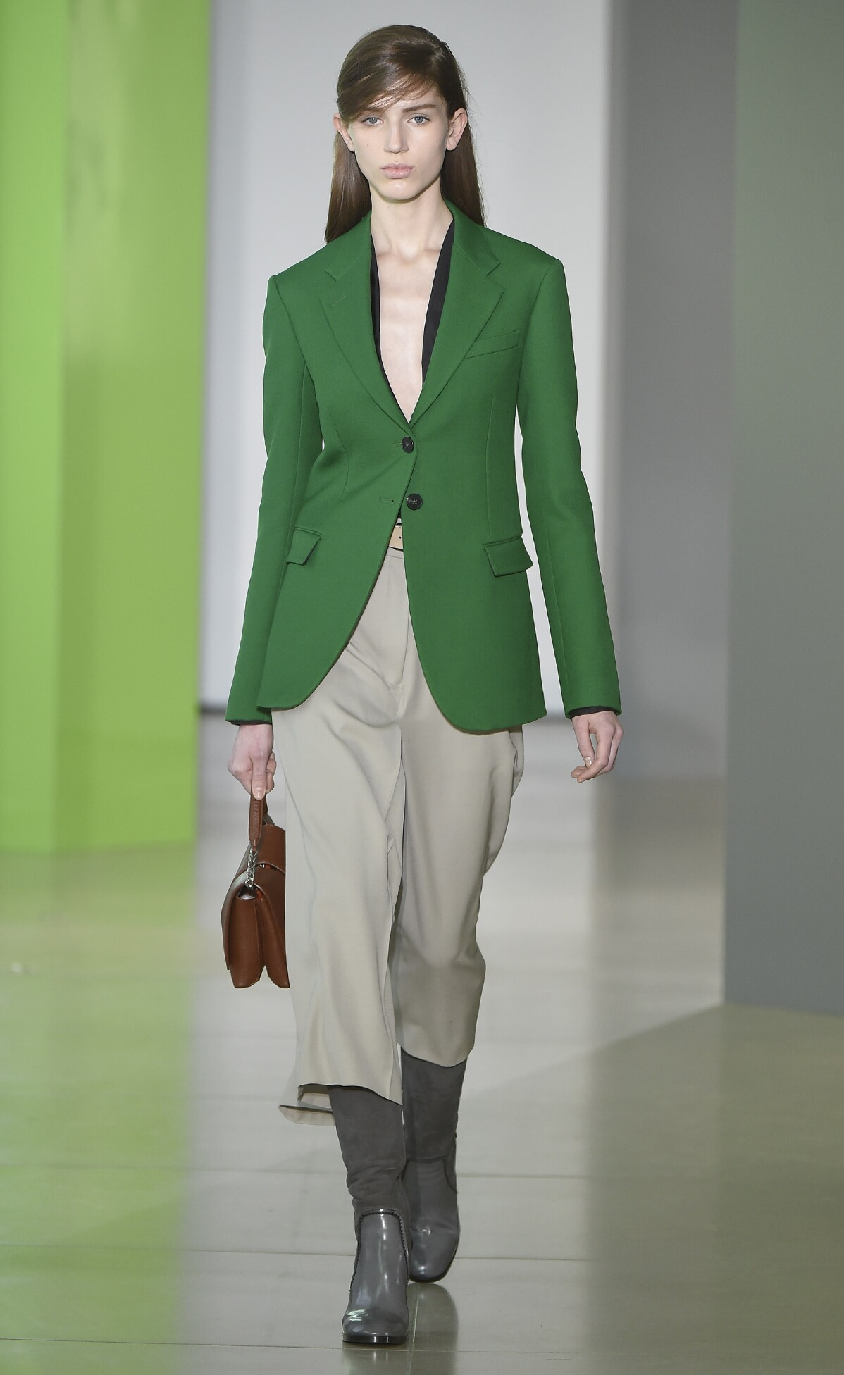 Fashion Woman Model Jil Sander Collection Catwalk