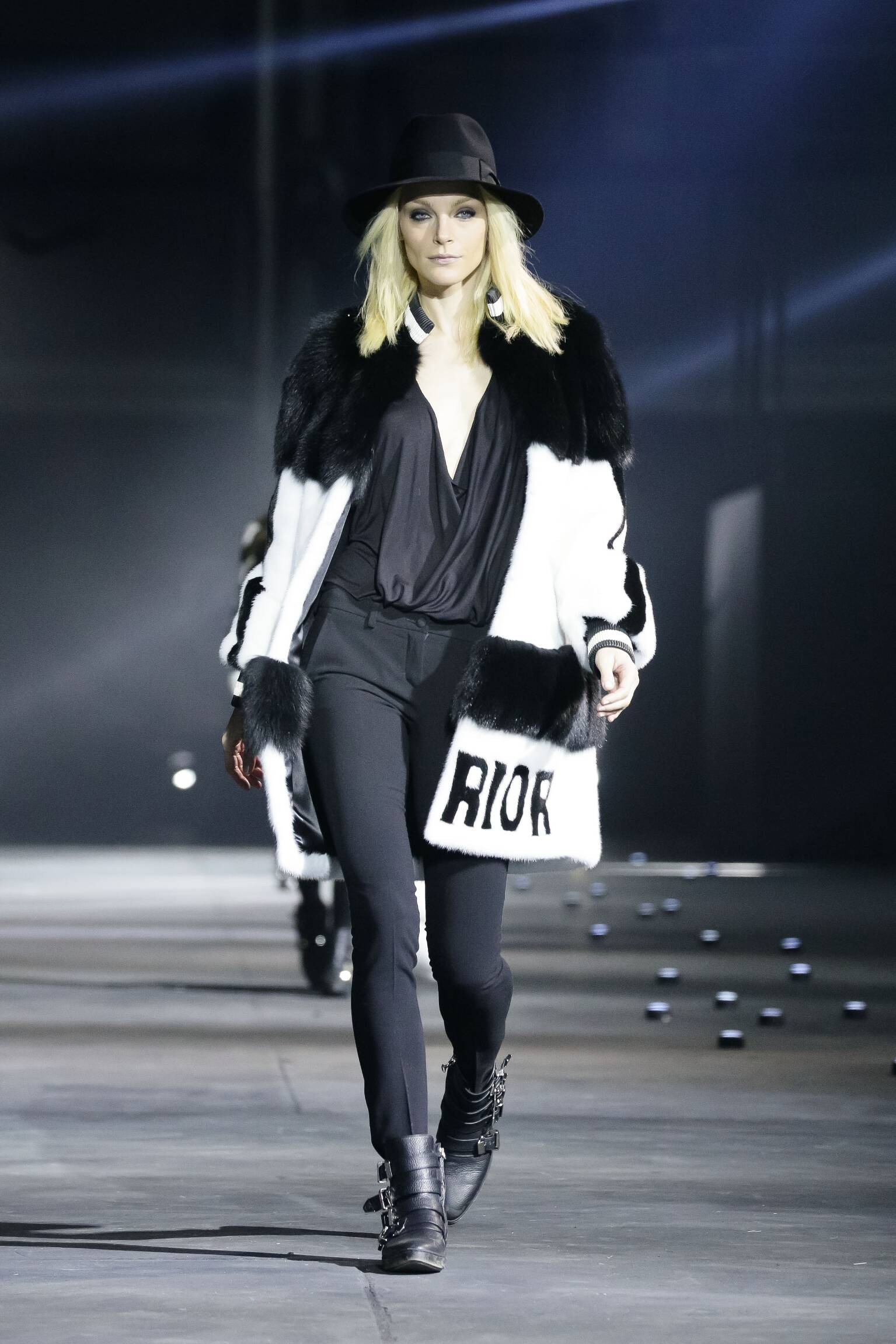 Fashion Woman Model Philipp Plein Collection Catwalk