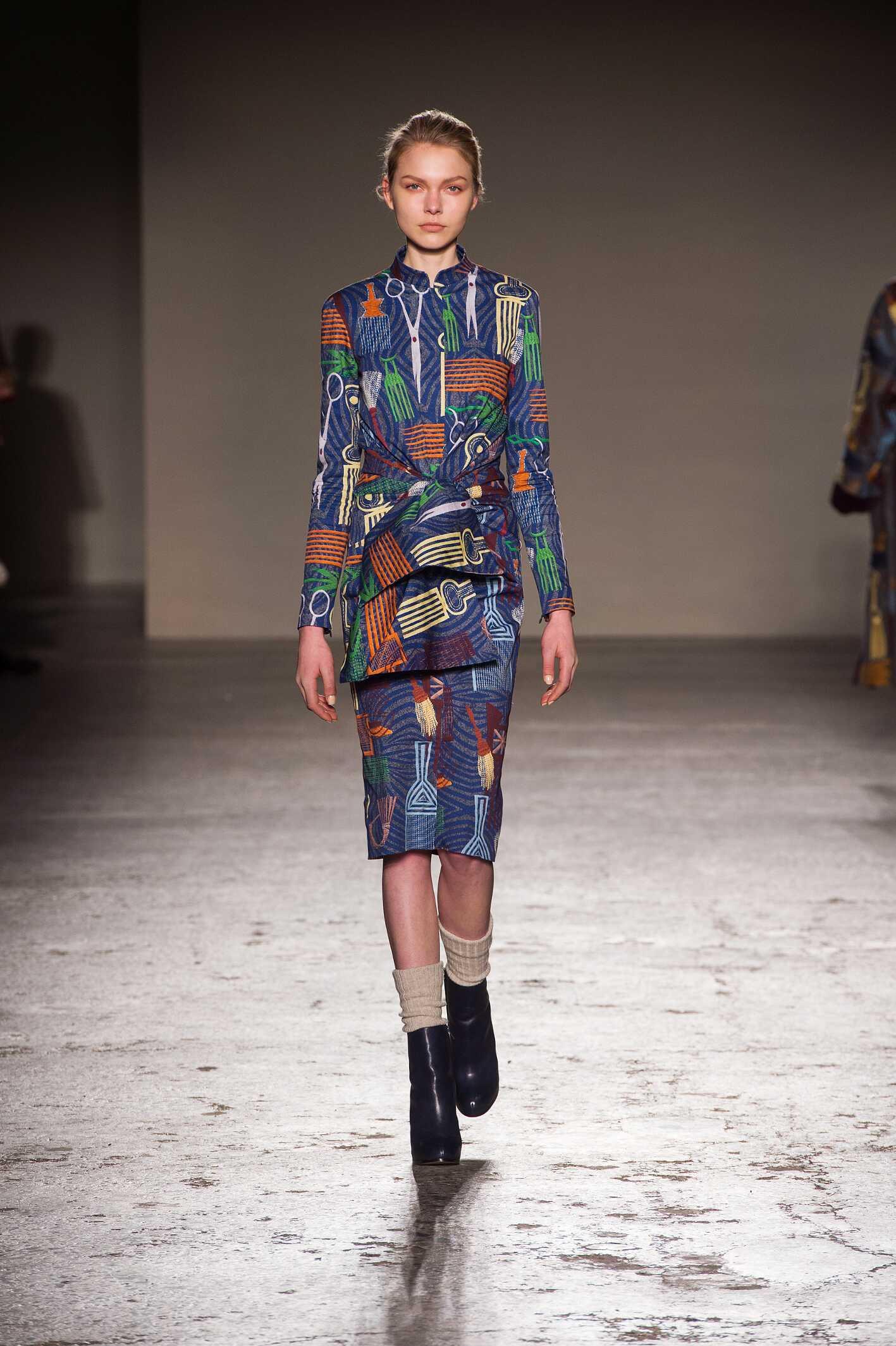 Fashion Woman Model Stella Jean Collection Catwalk