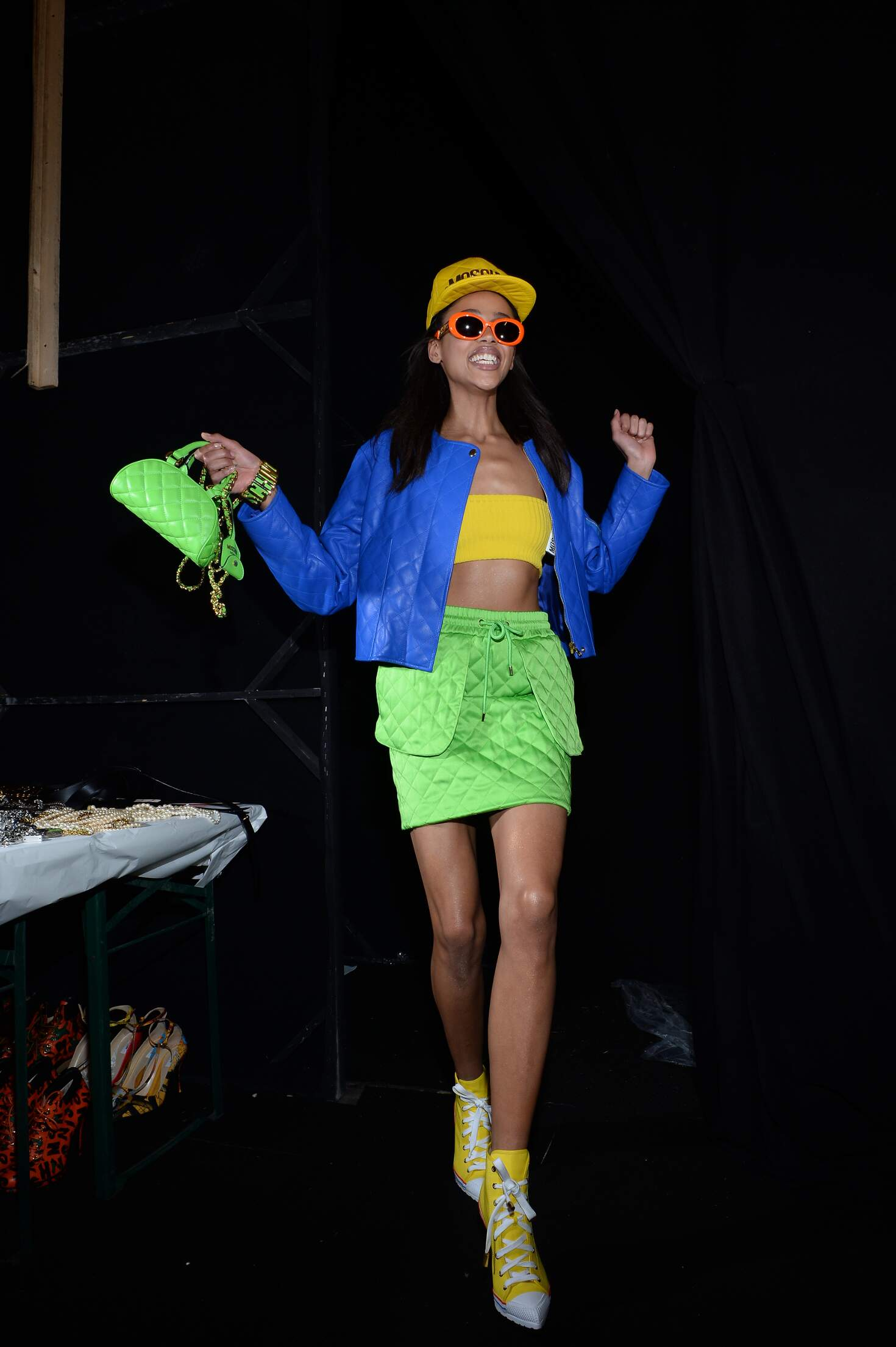 2015 Fashion Model Moschino Backstage
