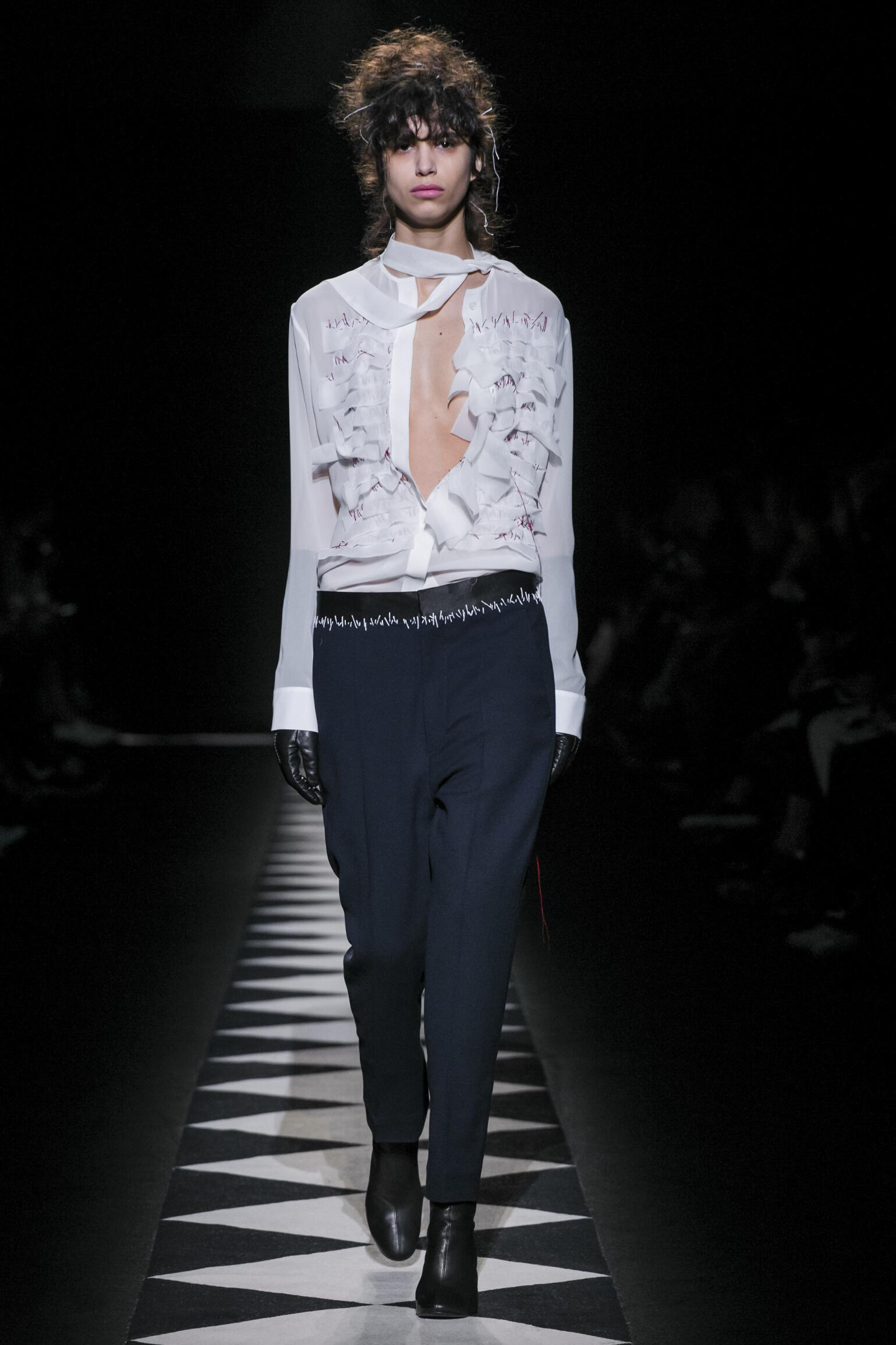 2015 Fashion Woman Model Haider Ackermann Collection Catwalk