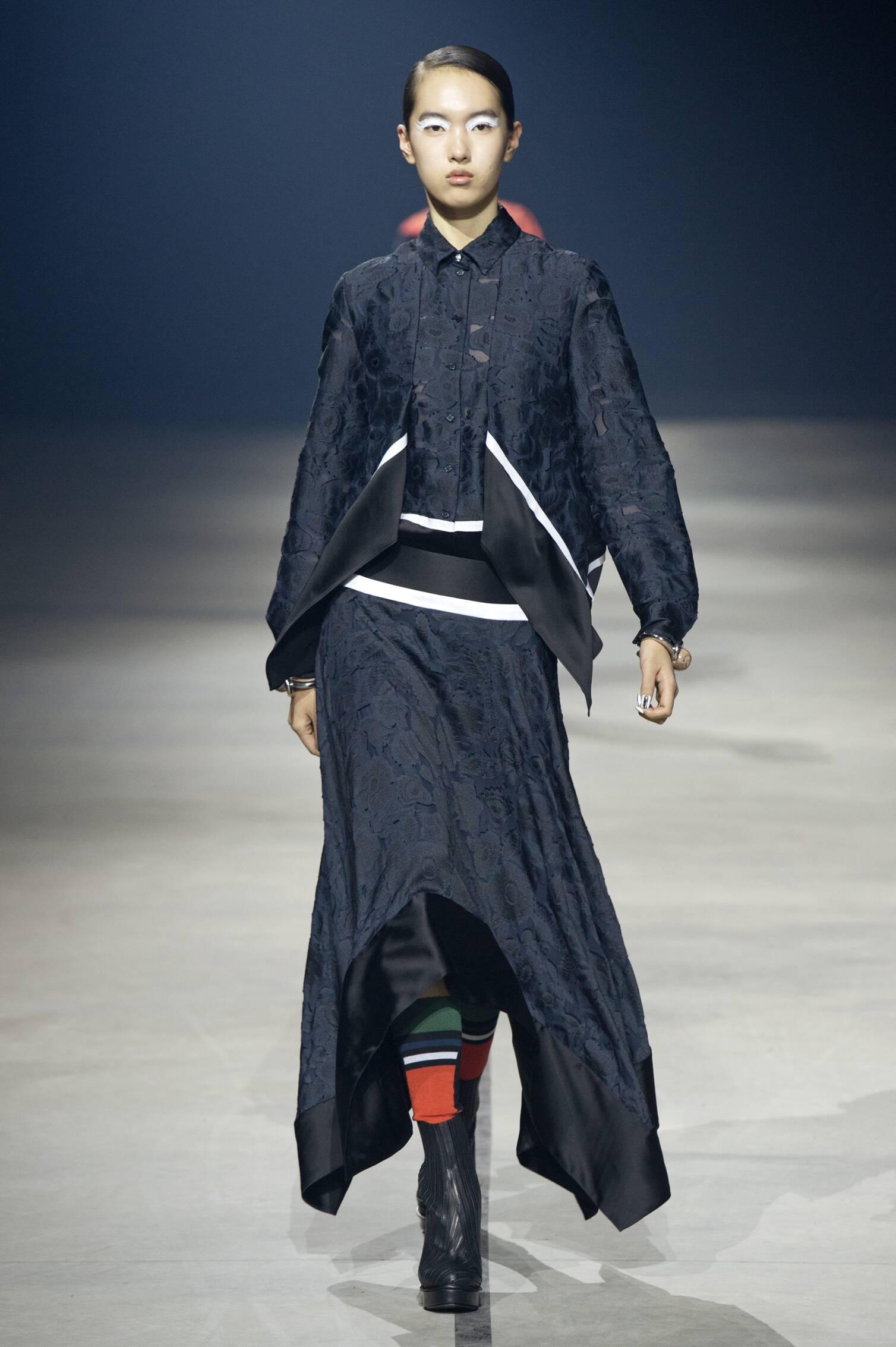 2015 Fashion Woman Model Kenzo Collection Catwalk