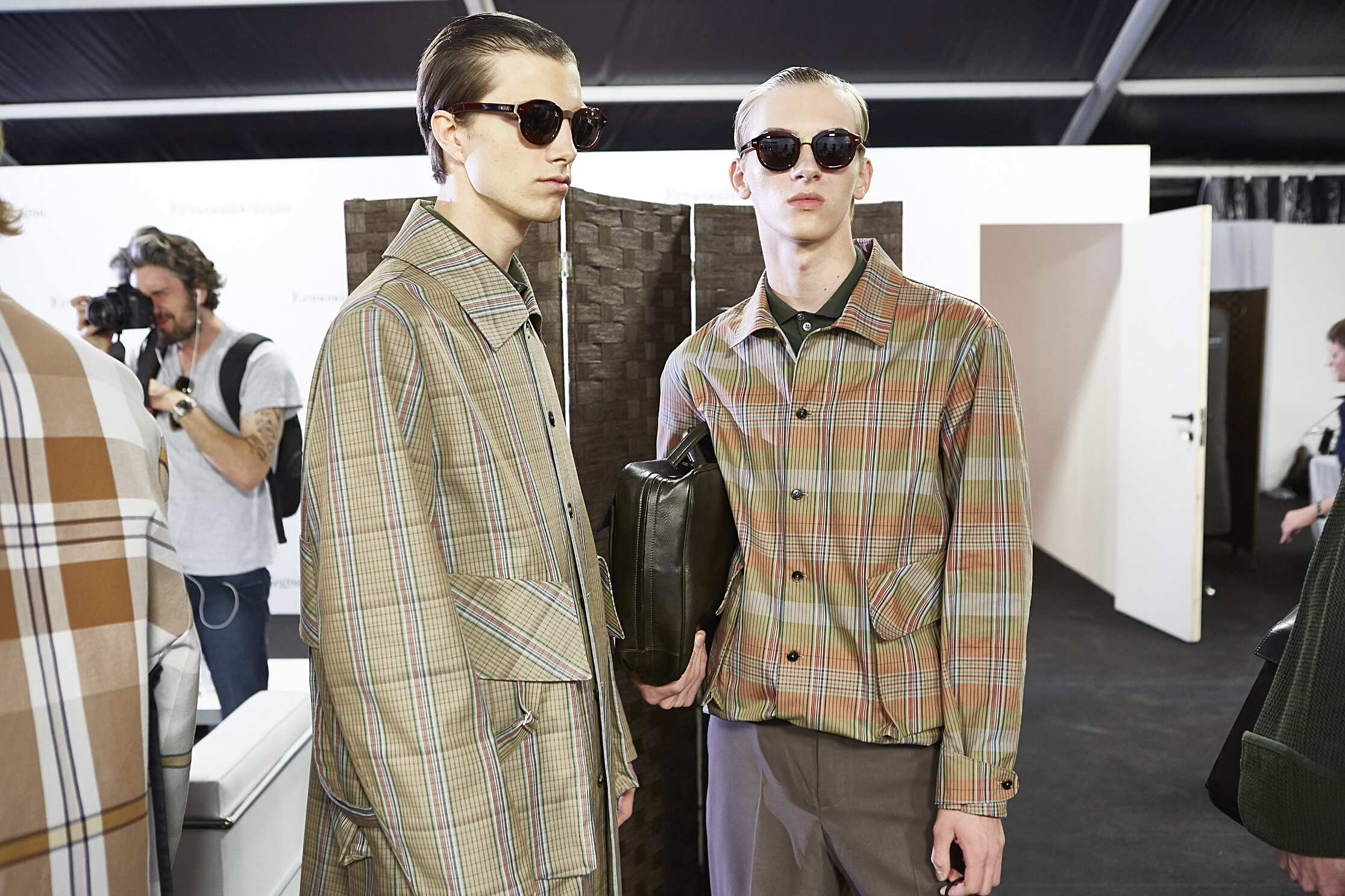 2016 Backstage Ermenegildo Zegna Couture Models