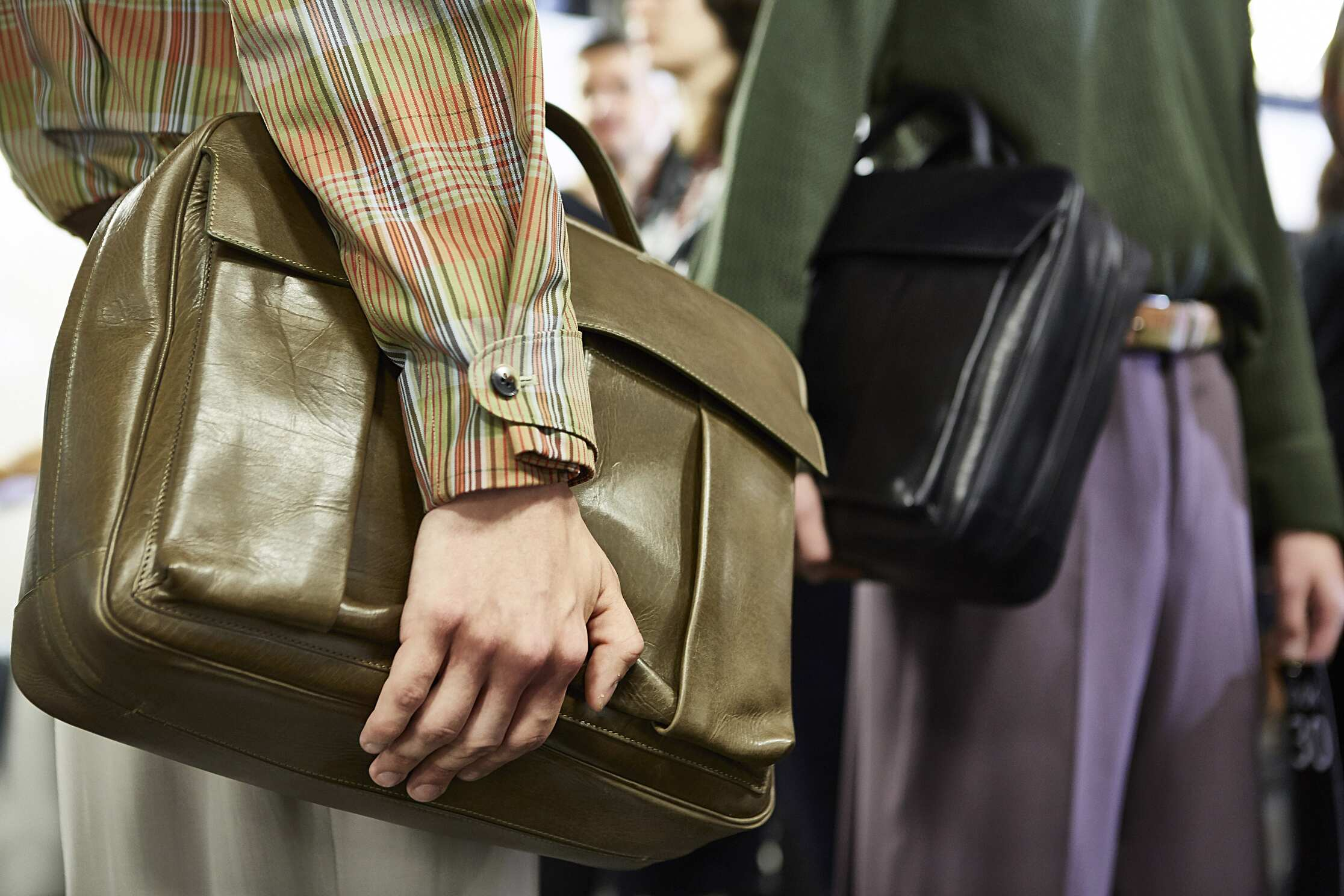 2016 Ermenegildo Zegna Couture Backstage Bag Details