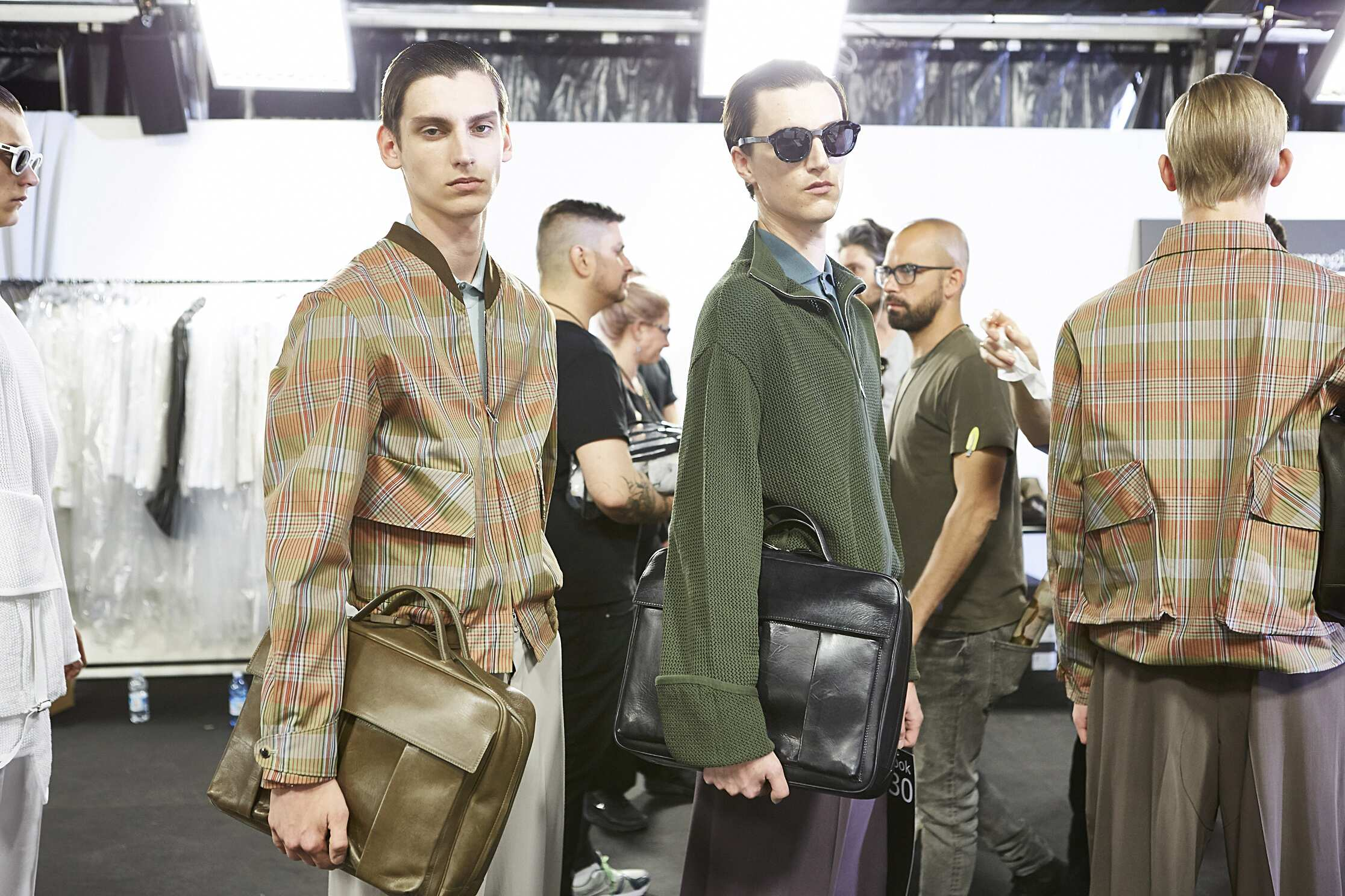 2016 Fashion Models Ermenegildo Zegna Couture Backstage