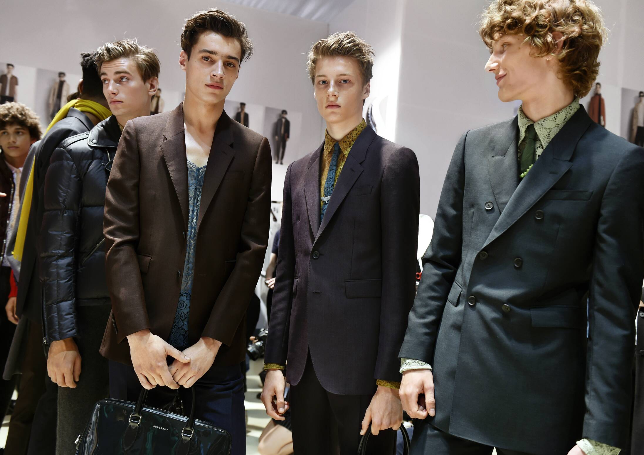 Backstage Burberry Menswear Spring Summer 2016 Models
