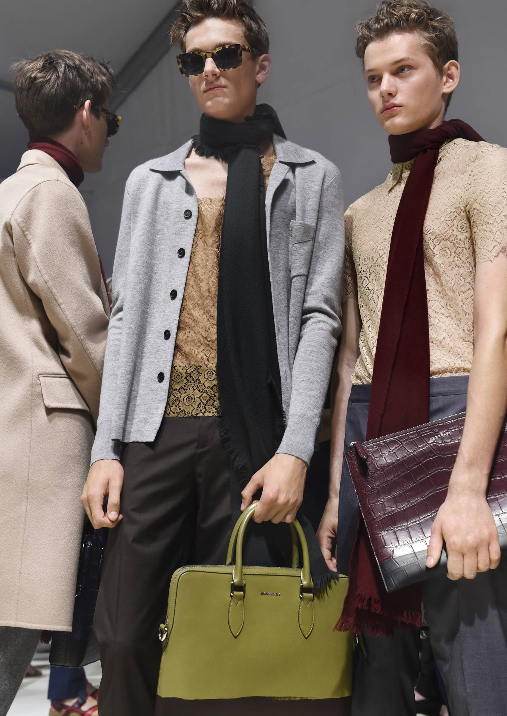 Backstage Burberry Menswear Trends 2016