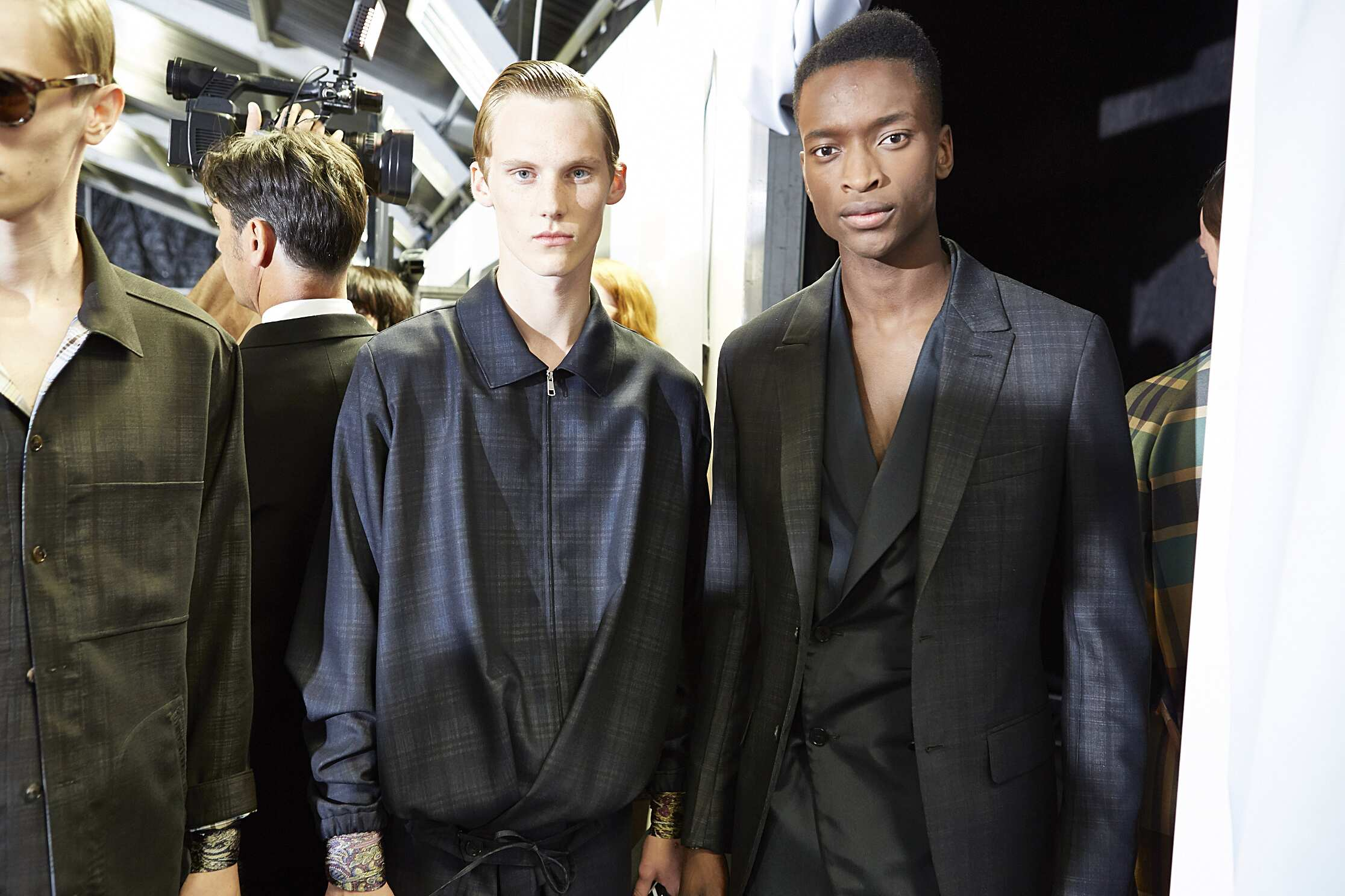 Backstage Ermenegildo Zegna Couture Fashion Show Milan