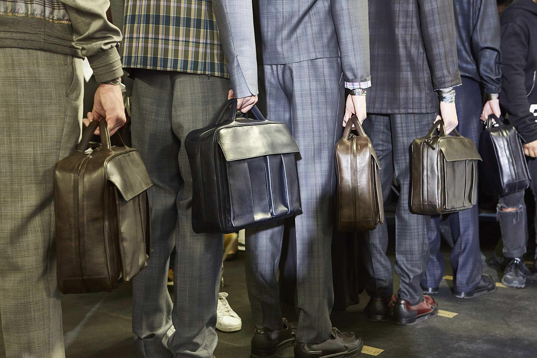Backstage Mens Ermenegildo Zegna Couture Bags