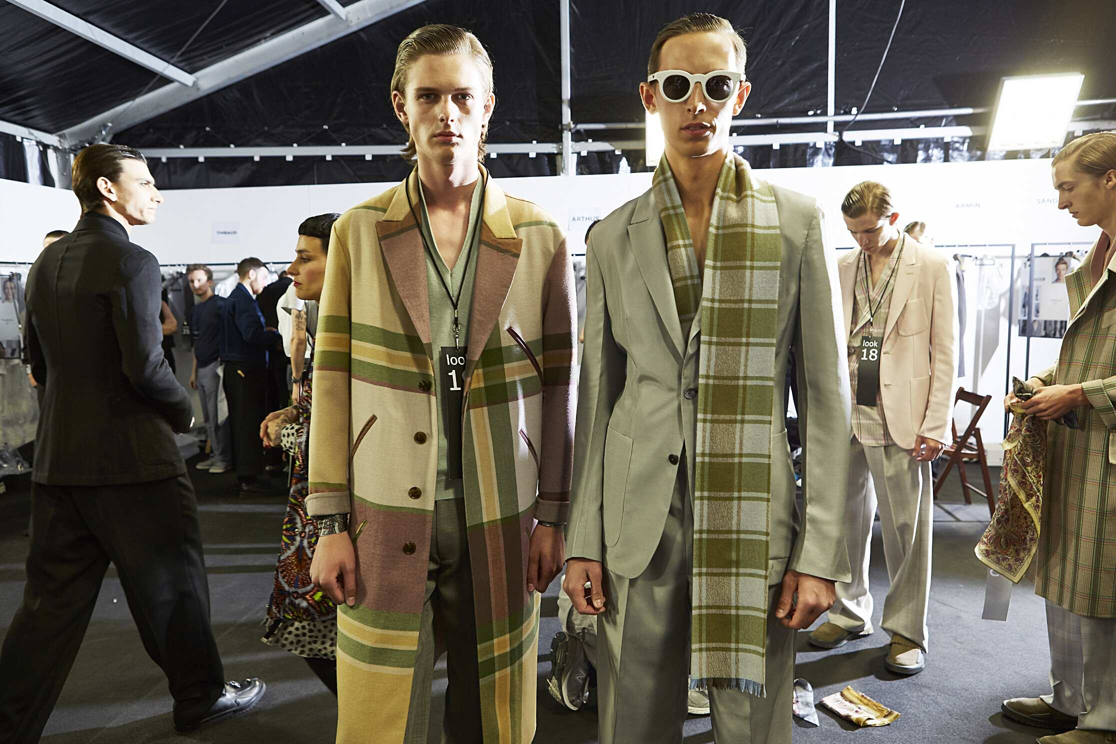 Backstage Menswear Ermenegildo Zegna Couture