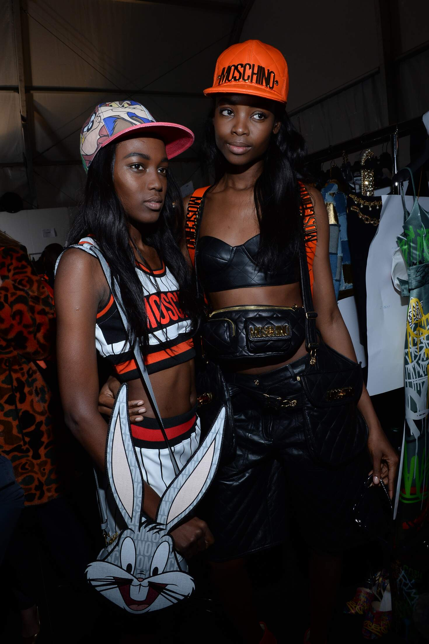 Backstage Moschino Fashion Show Models Milan