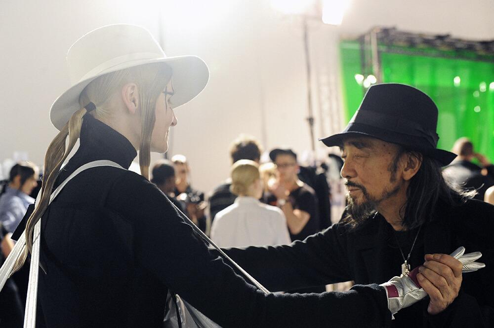 Backstage Yohji Yamamoto 2015