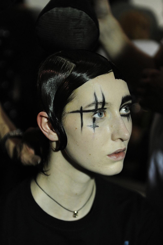 Backstage Yohji Yamamoto Fashion Show