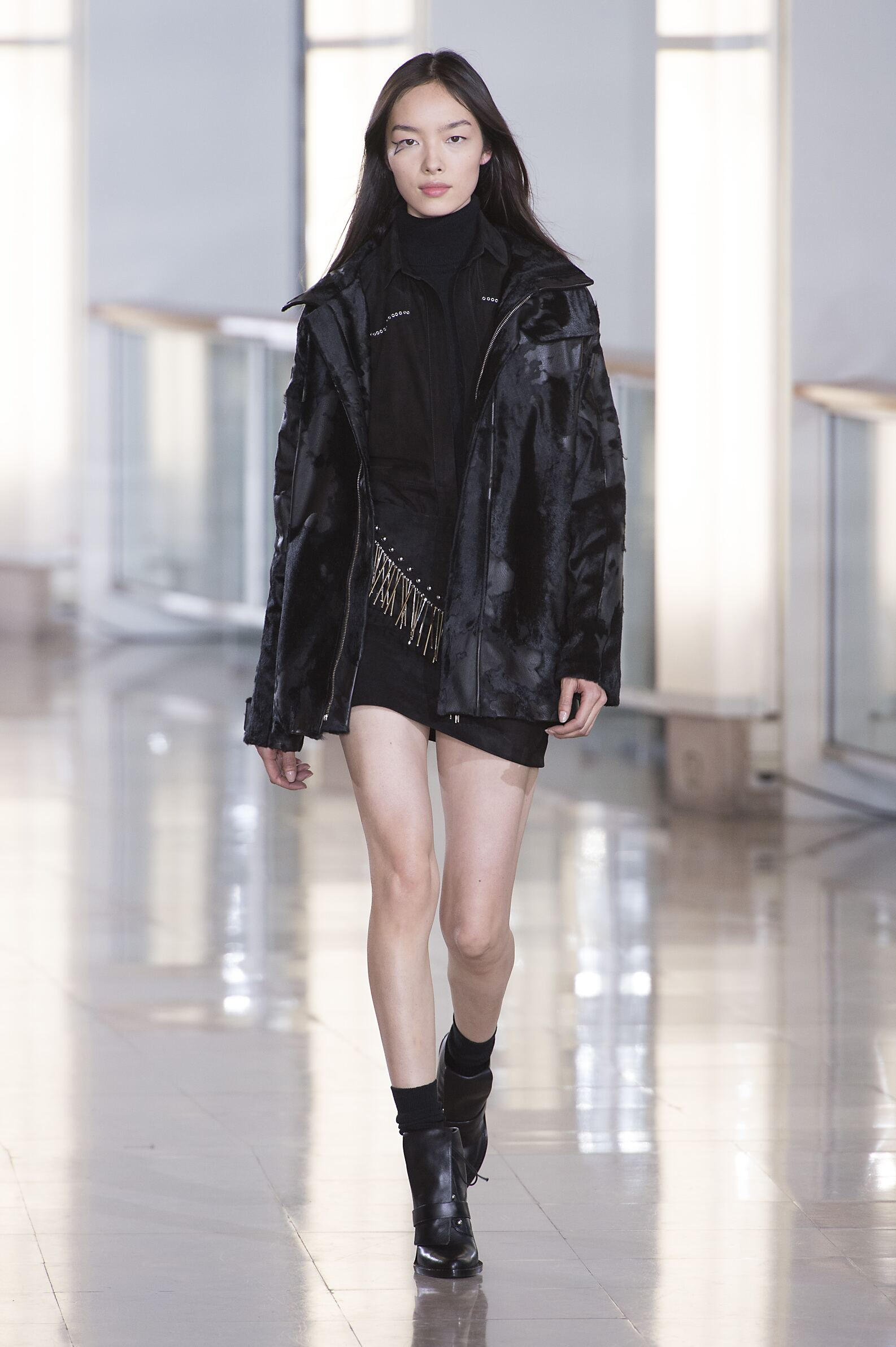 Catwalk Anthony Vaccarello Collection Fashion Show Winter 2015