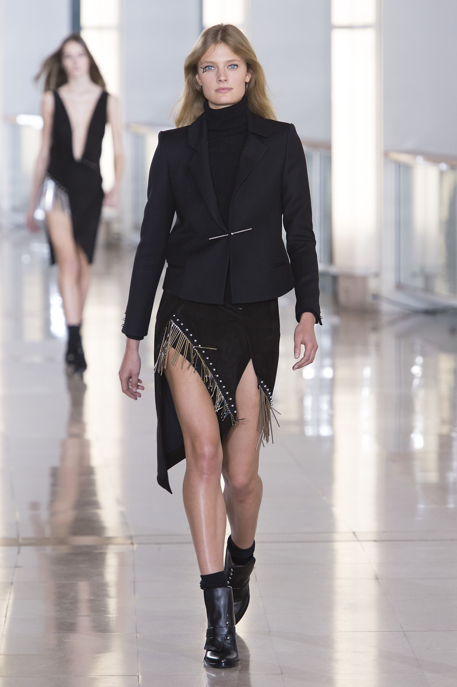 Catwalk Anthony Vaccarello Fall Winter 2015 16 Women's Collection Paris Fashion Week