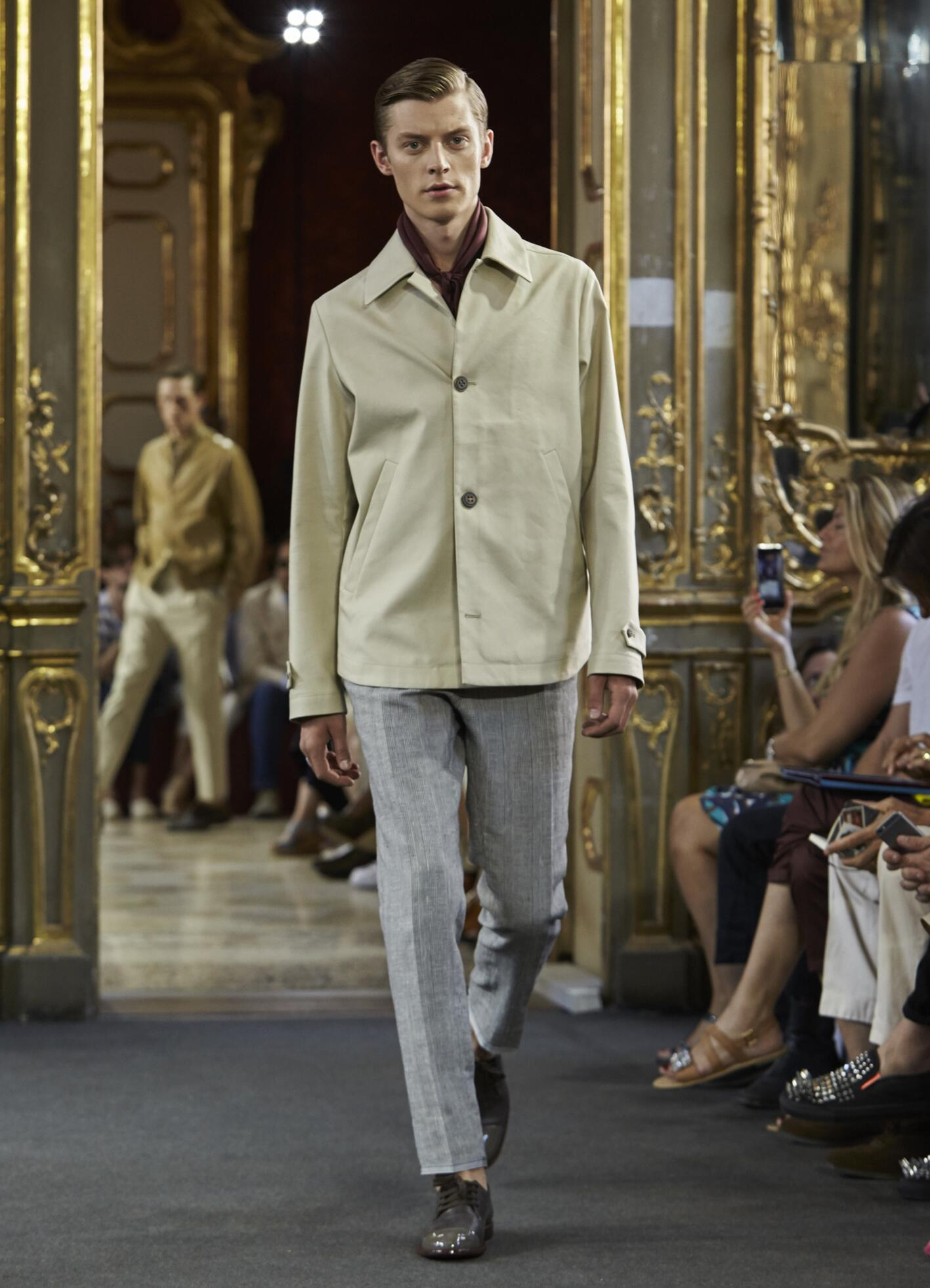 Catwalk Corneliani Collection Fashion Show Summer 2016