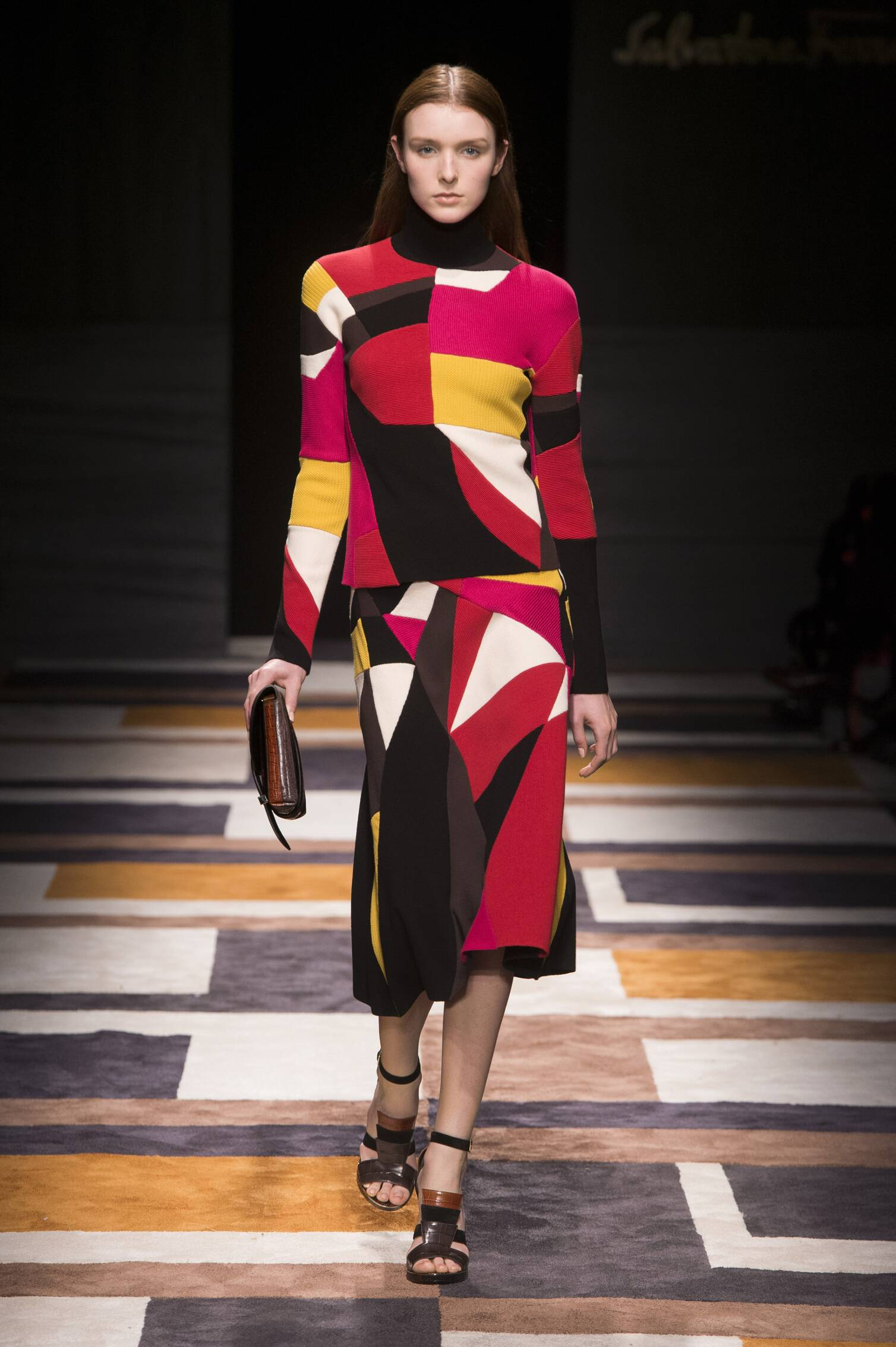 Catwalk Salvatore Ferragamo Collection Fashion Show Winter 2015