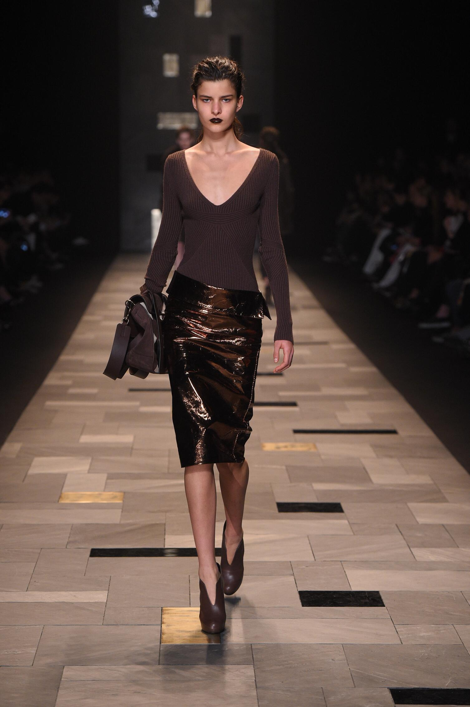 Catwalk Trussardi Fall Winter 2015 16 Women's Collection Milan Fashion Week