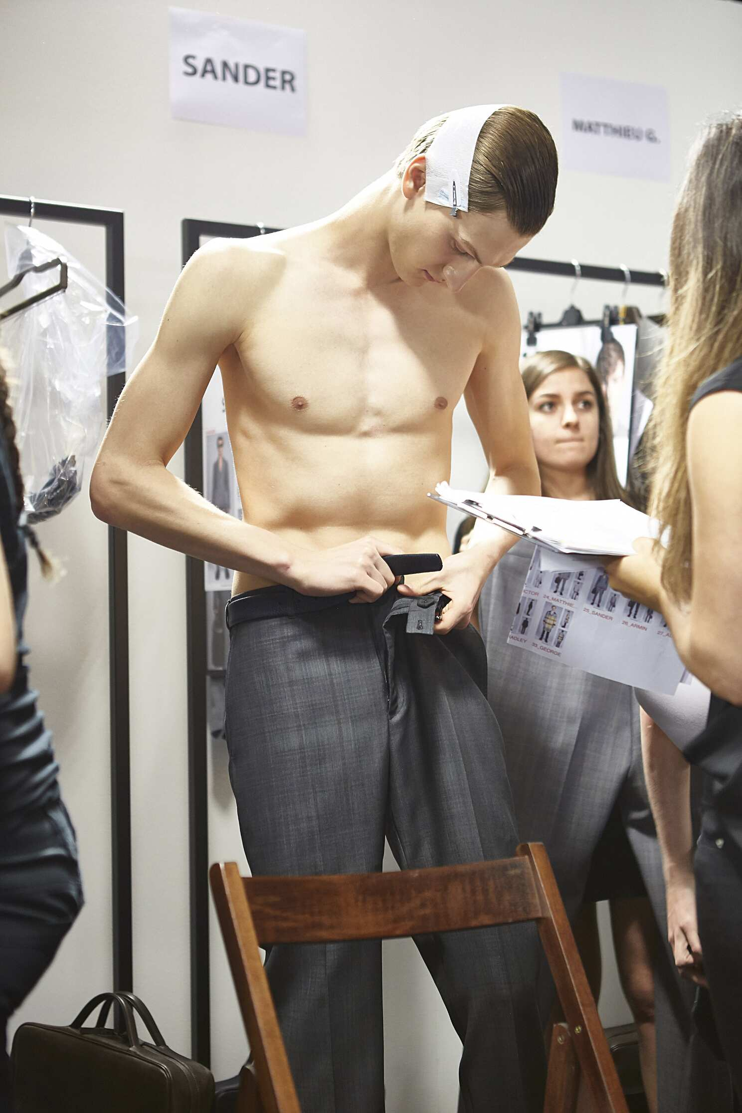 Ermenegildo Zegna Couture Backstage Fashion Model Menswear