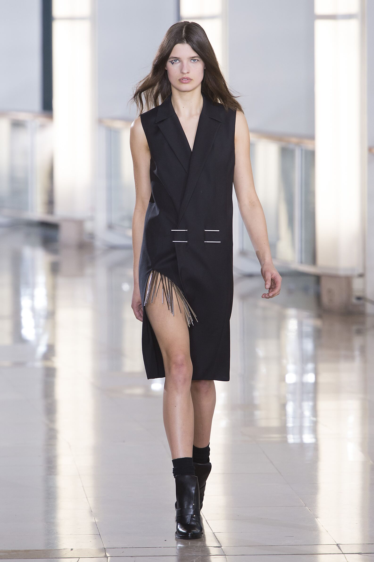 Fall Anthony Vaccarello Collection Fashion Women Model