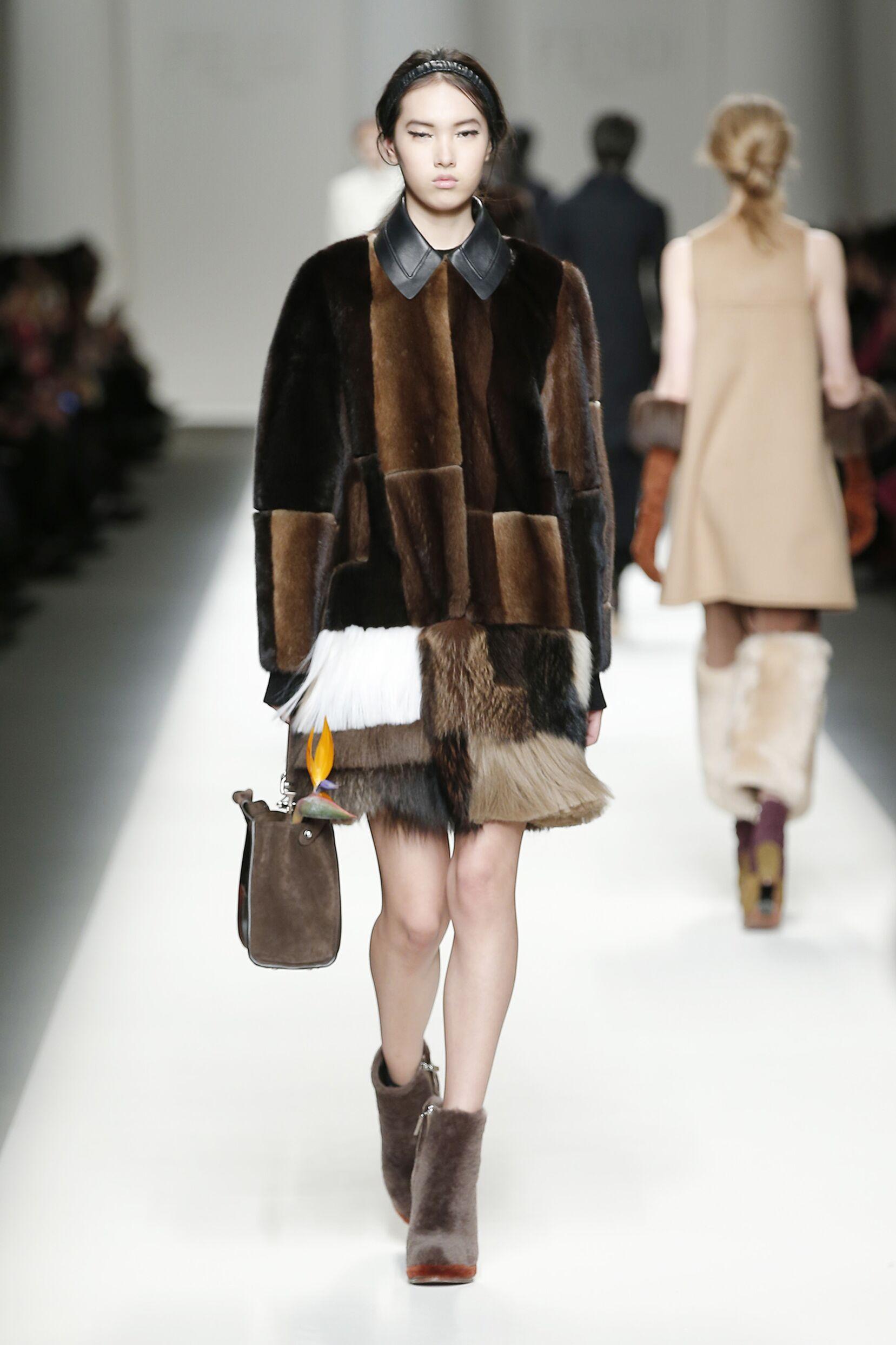 Fall Fendi Collection Fashion Women Model