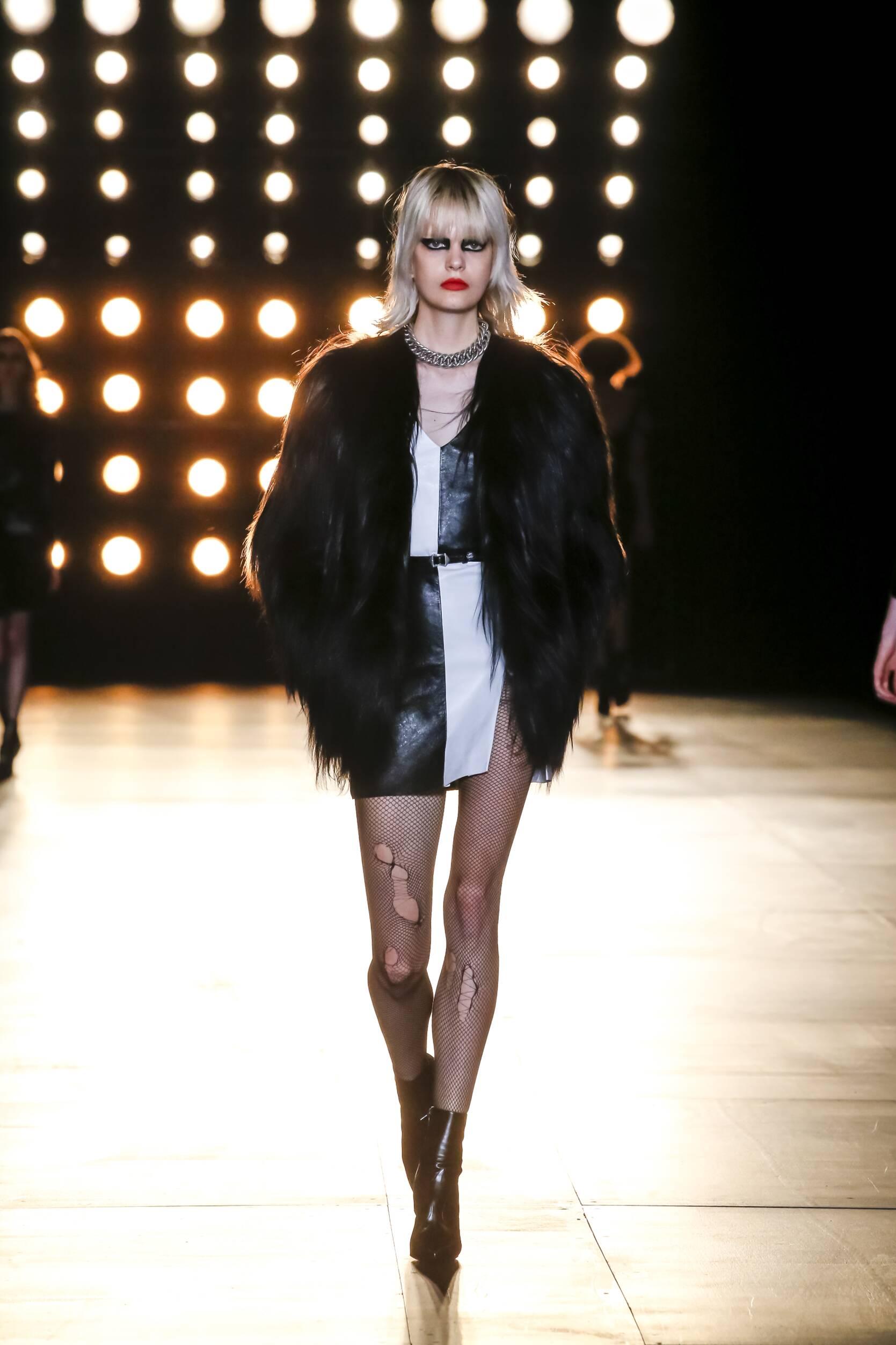 Fall Saint Laurent Collection Fashion Women Model